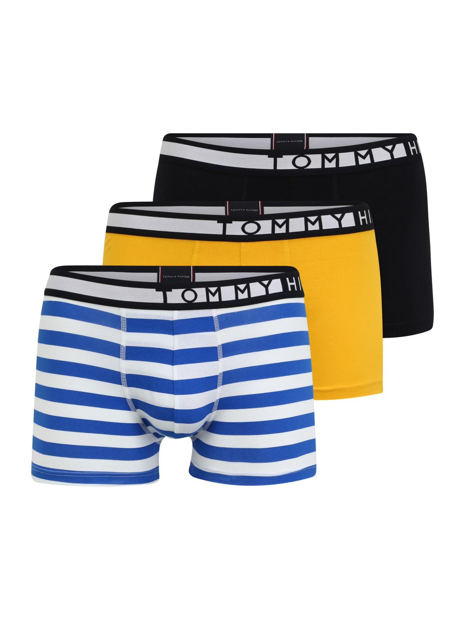 Tommy Hilfiger Underwear Boxer trumpikės geltona / mėlyna dūmų spalva / balta / kobalto mėlyna
