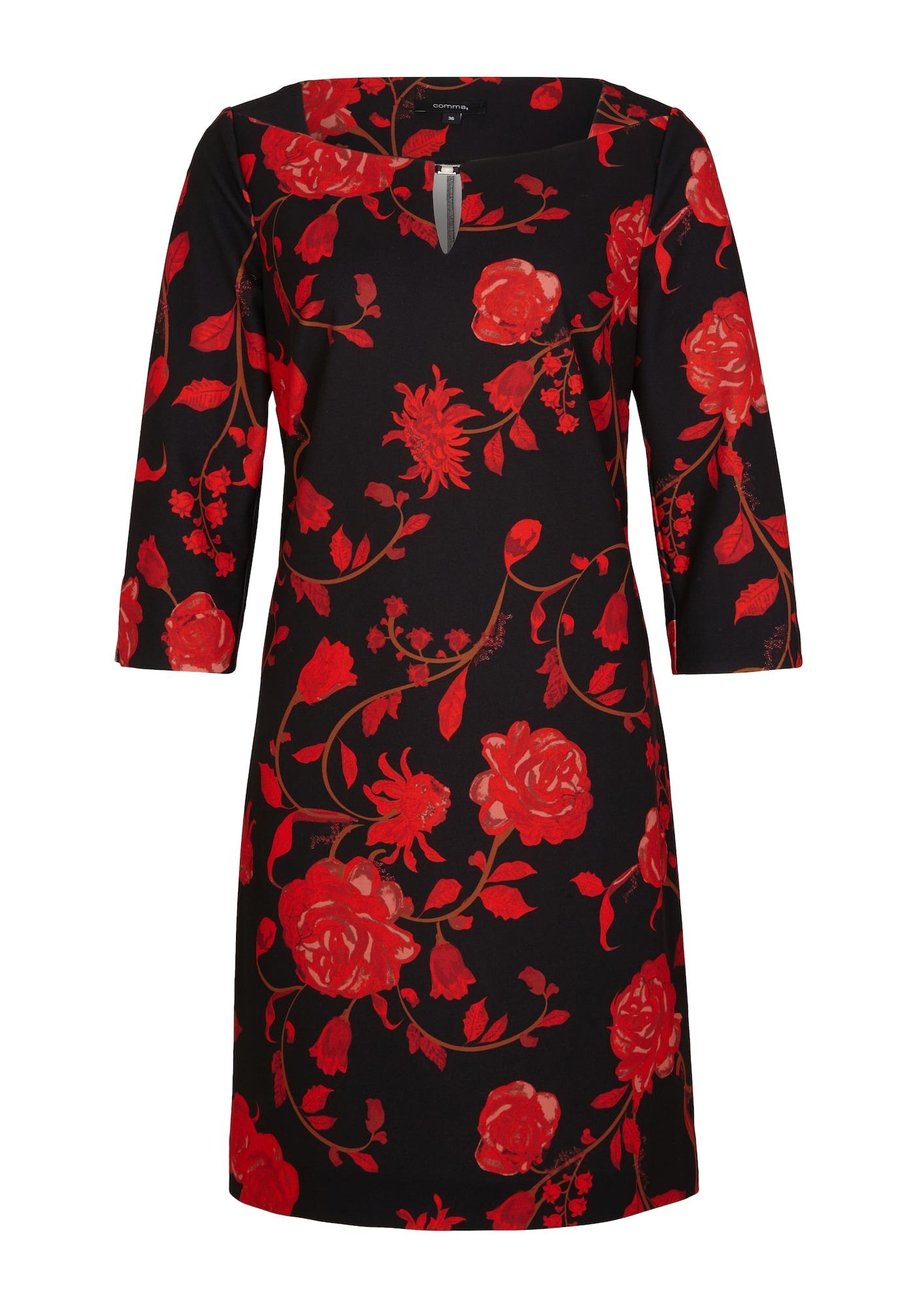 COMMA Suknelė raudona / juoda