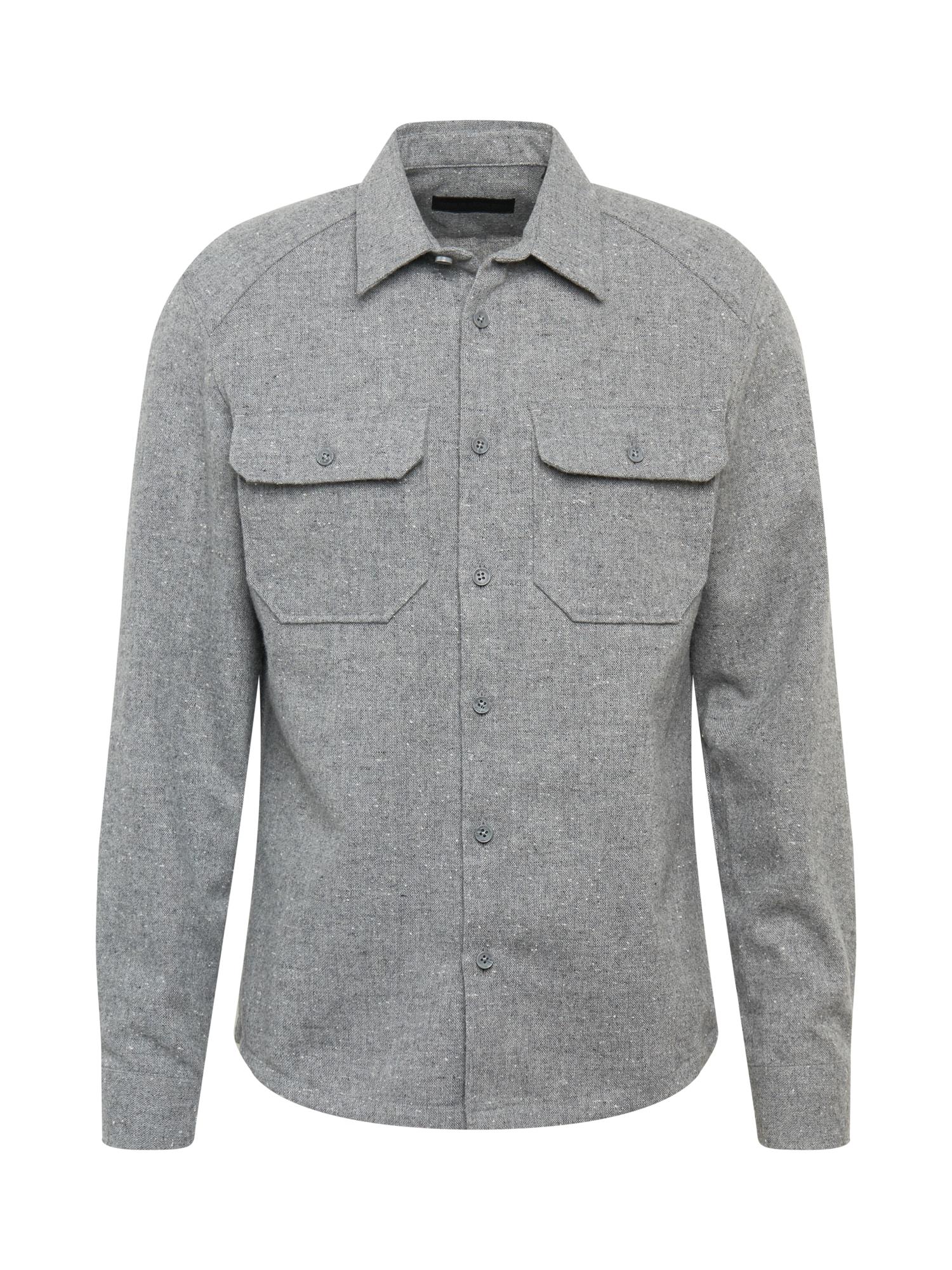 DRYKORN Marškiniai margai pilka