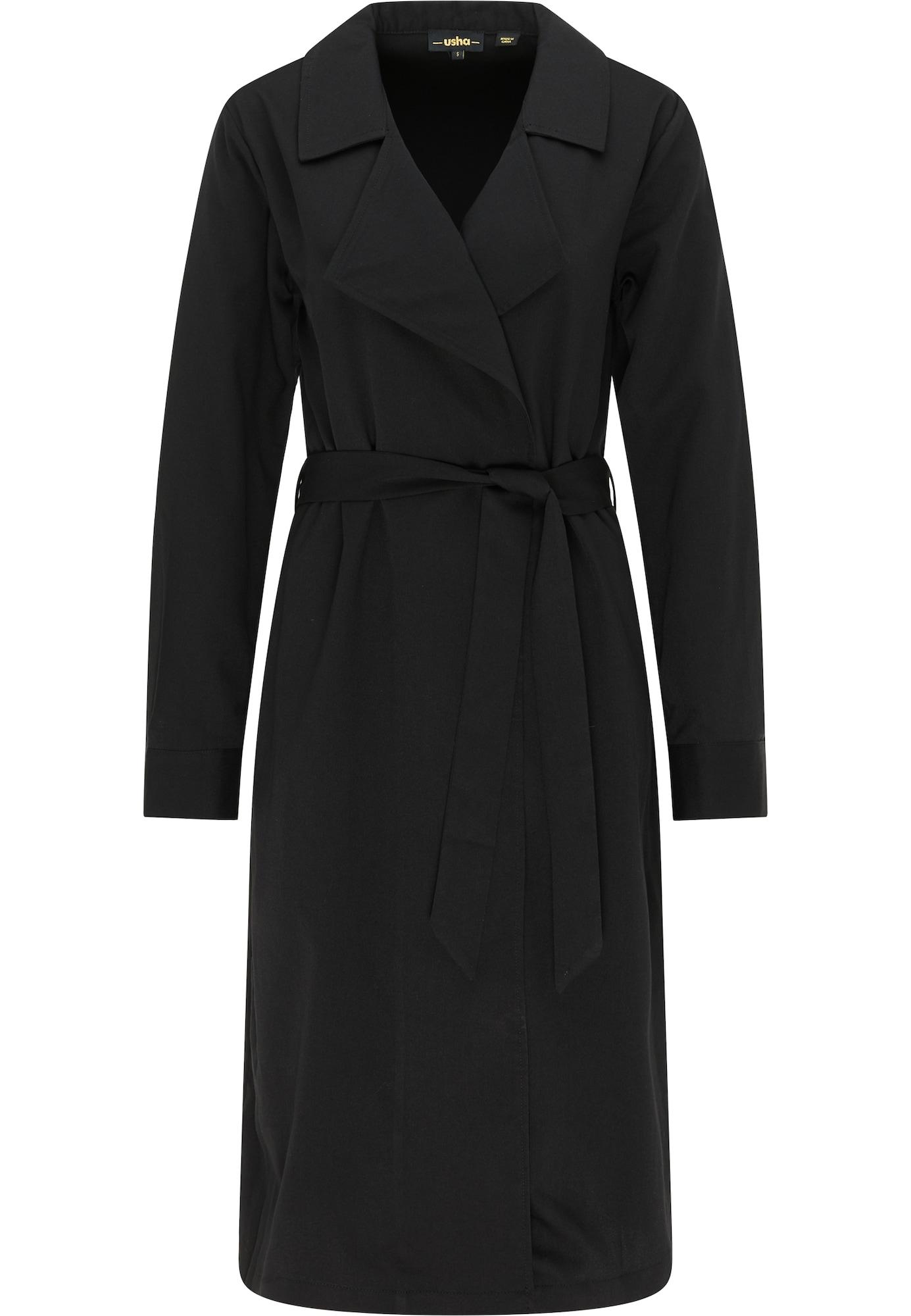 usha BLACK LABEL Demisezoninis paltas juoda