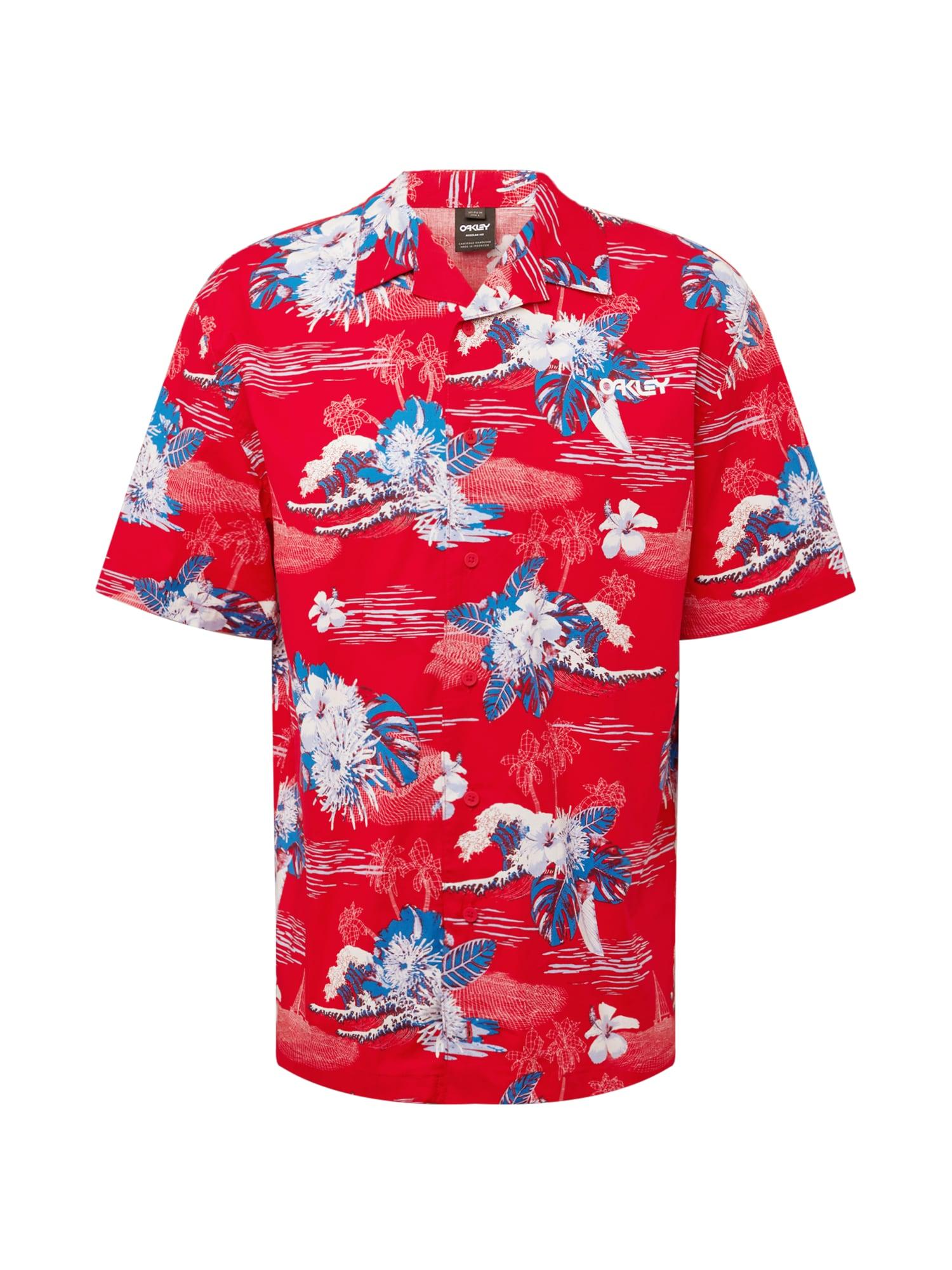 OAKLEY Funkciniai marškiniai raudona / balta / mėlyna
