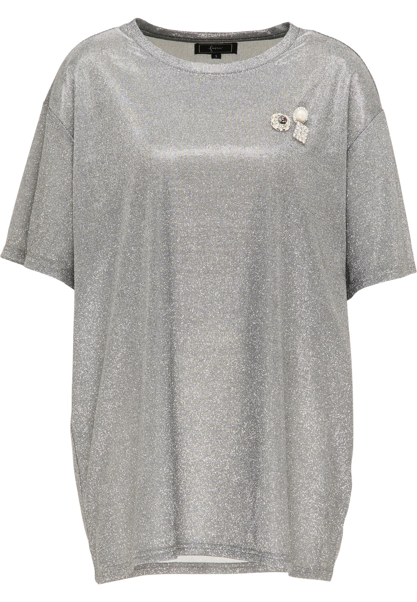faina Laisvi marškinėliai sidabrinė