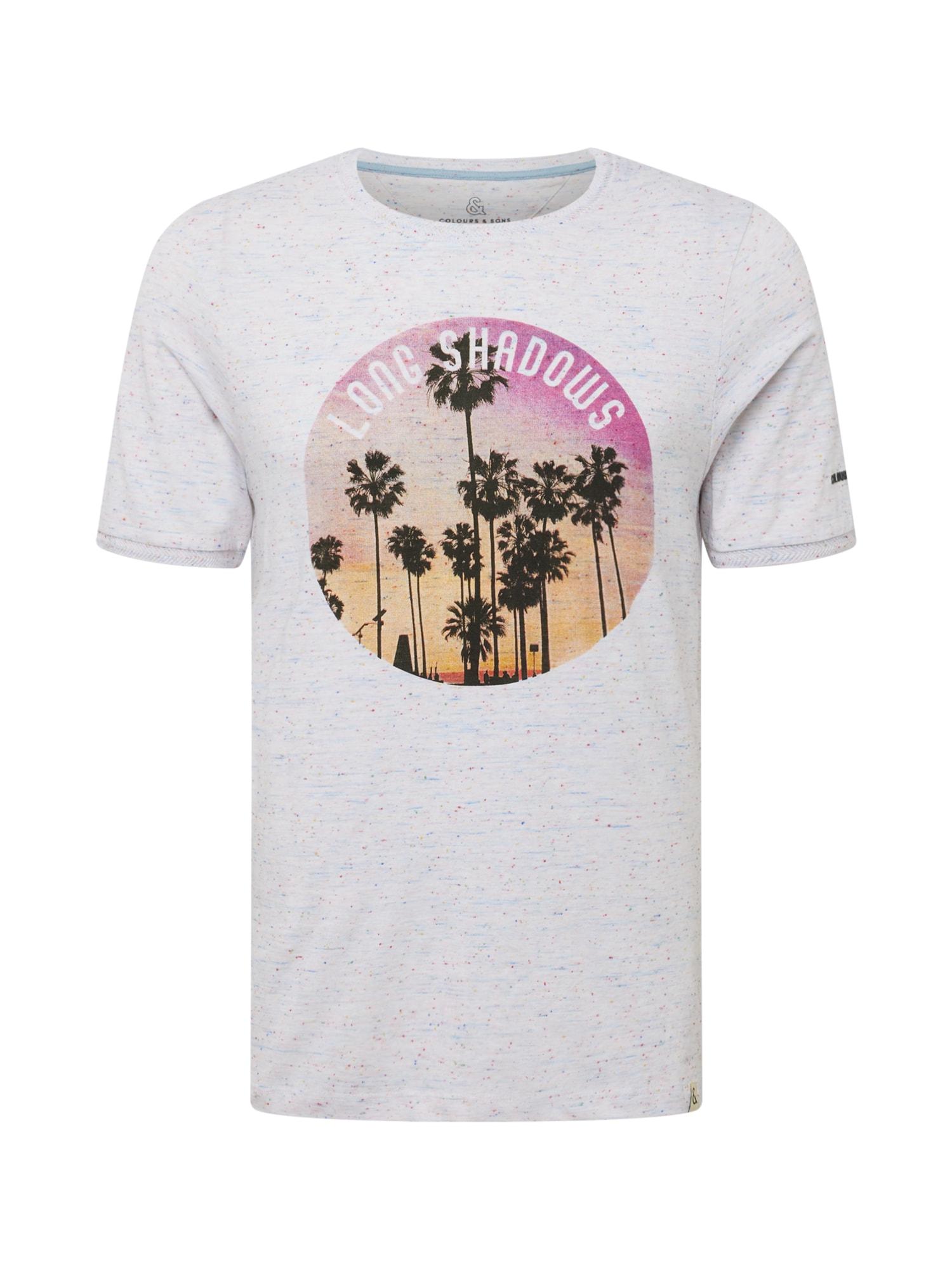 COLOURS & SONS Marškinėliai margai balta / mišrios spalvos
