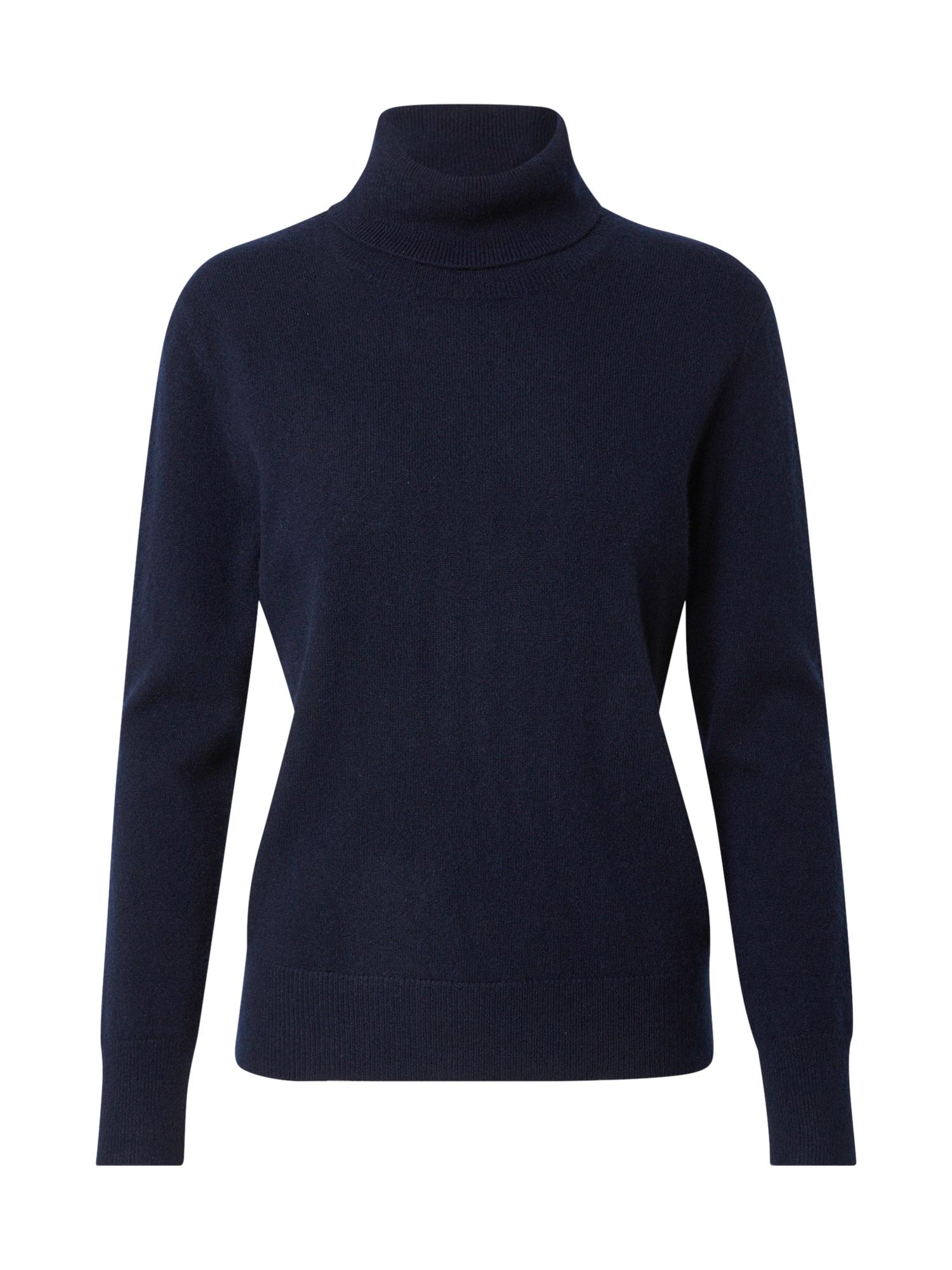Pure Cashmere NYC Megztinis tamsiai mėlyna jūros spalva