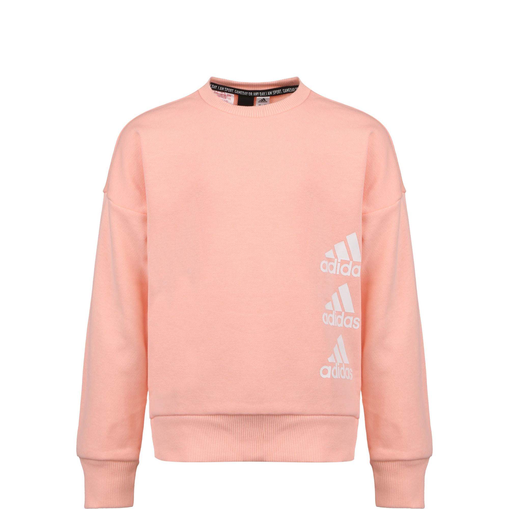 ADIDAS PERFORMANCE Sportinio tipo megztinis lašišų spalva / balta