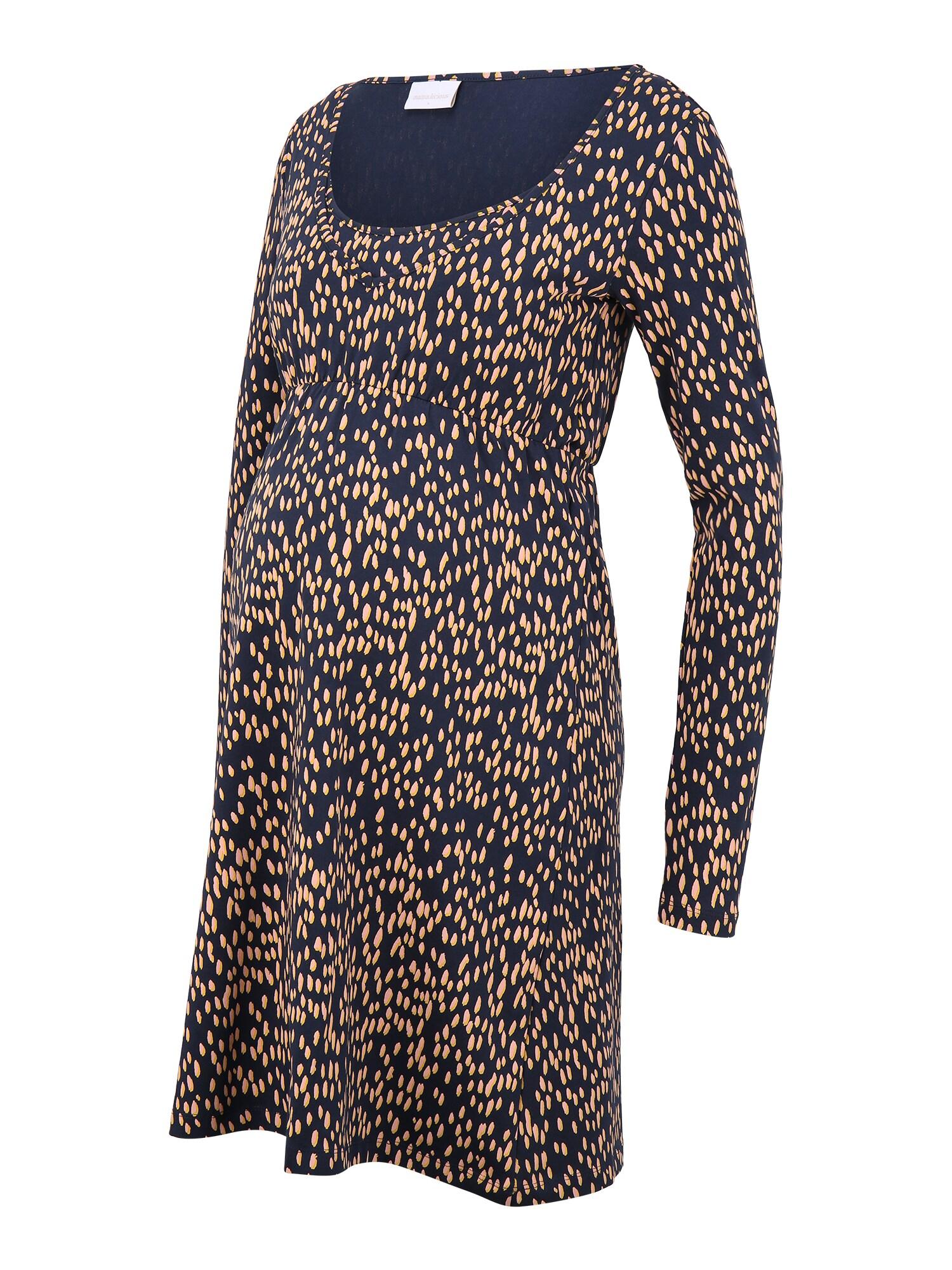 MAMALICIOUS Suknelė 'Irena' tamsiai mėlyna / smėlio