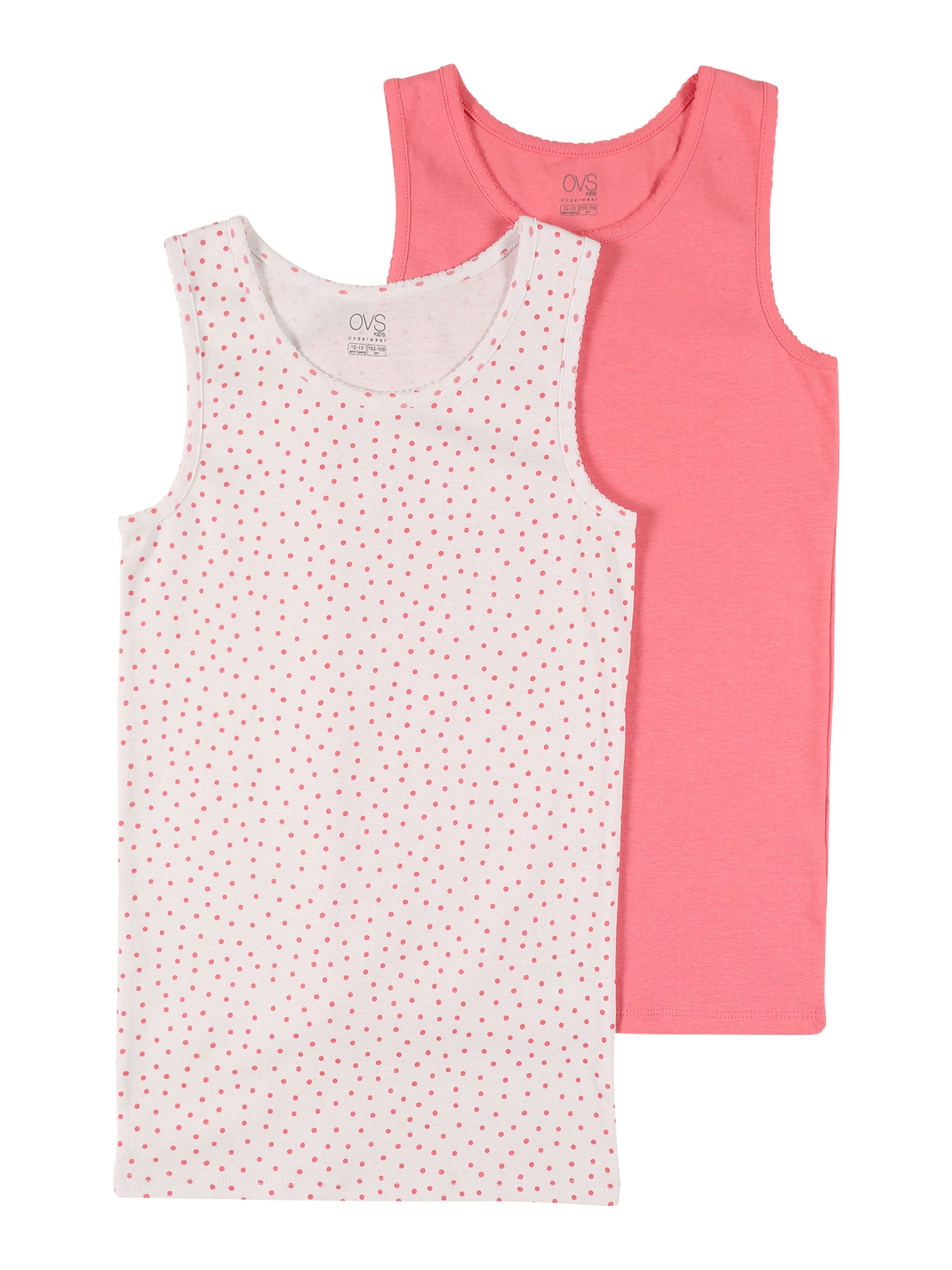 OVS Apatiniai marškinėliai balta / pitajų spalva