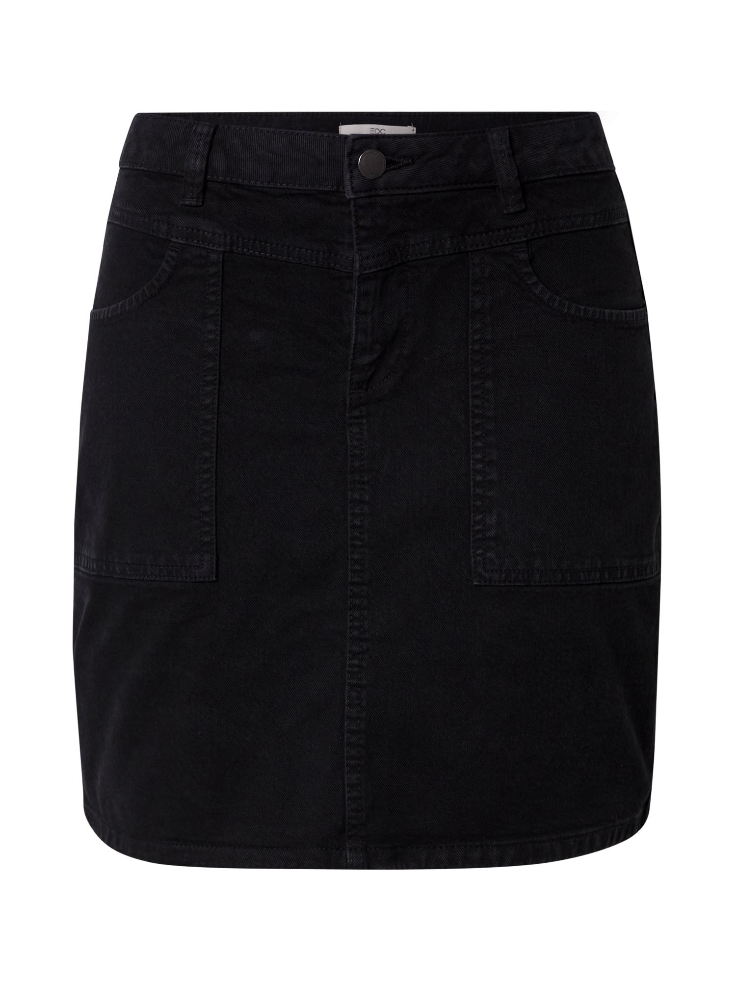 EDC BY ESPRIT Sijonas juodo džinso spalva