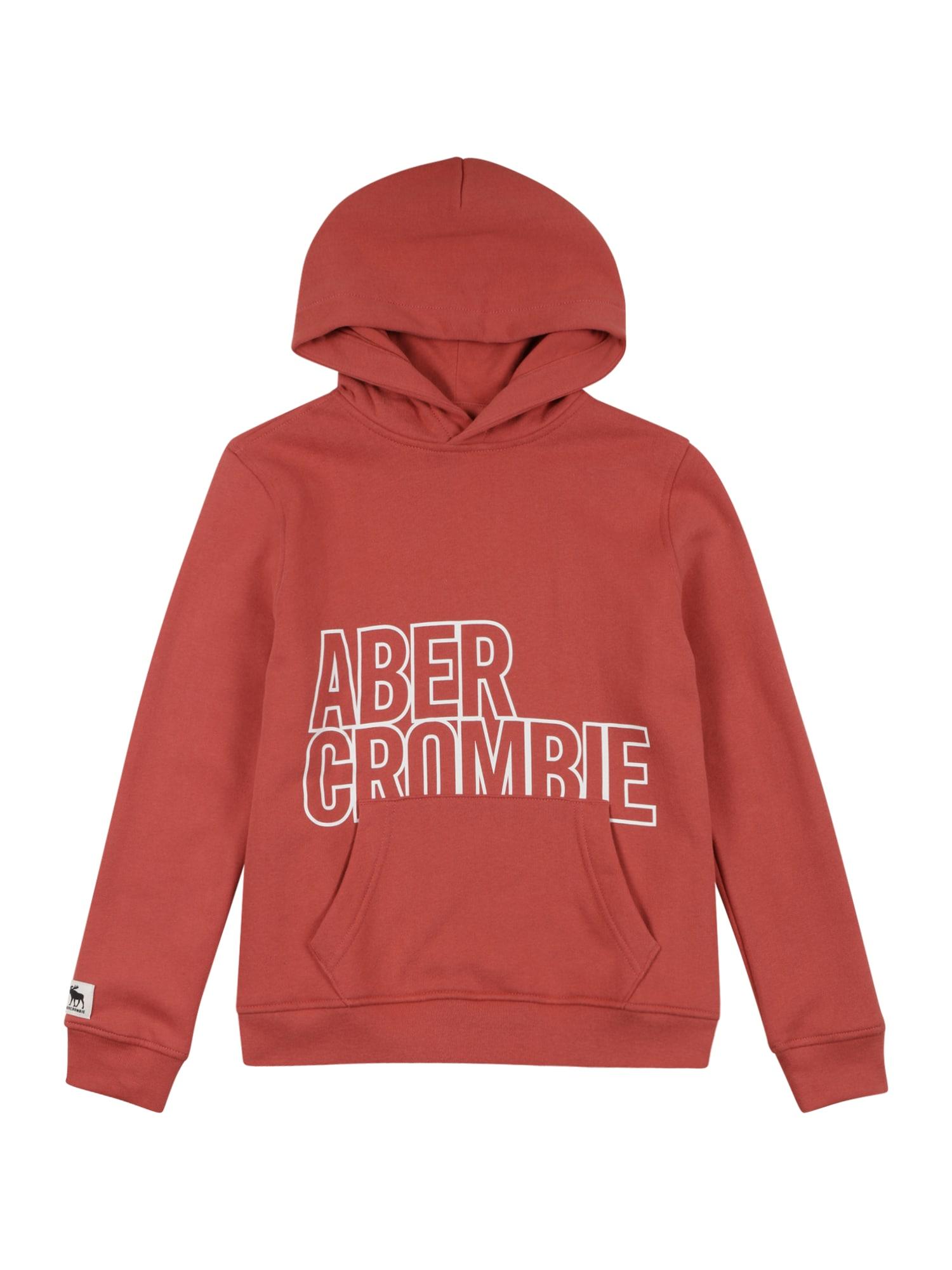Abercrombie & Fitch Megztinis be užsegimo omarų spalva / balta