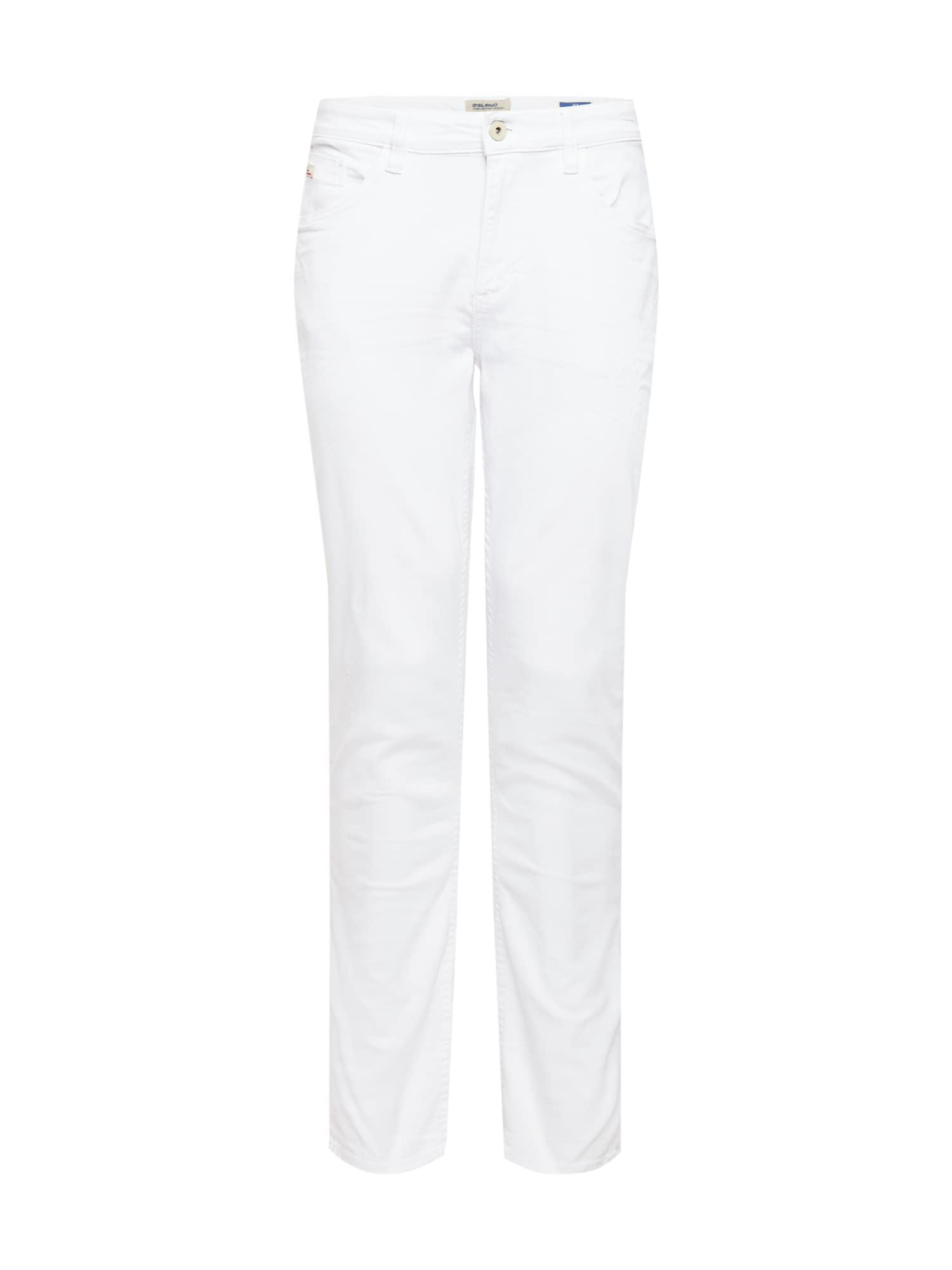 BLEND Džinsai balto džinso spalva