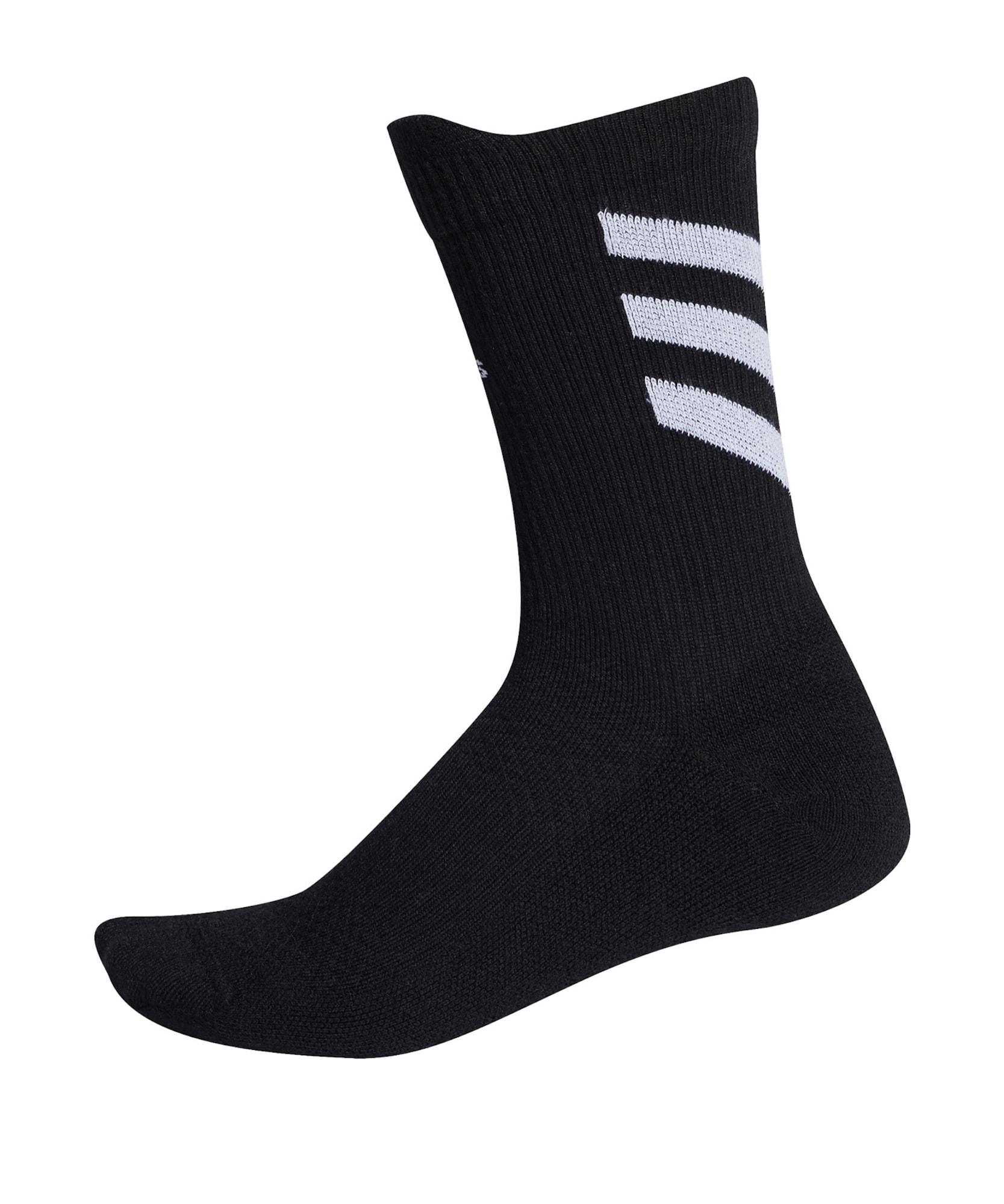 ADIDAS PERFORMANCE Sportinės kojinės juoda / šviesiai pilka