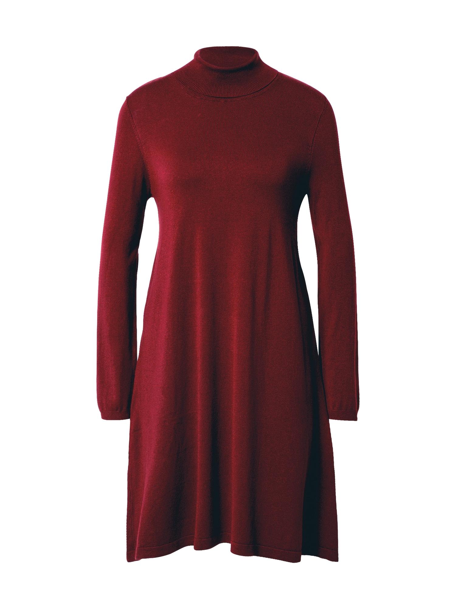 VERO MODA Úpletové šaty 'Glory'  bordó