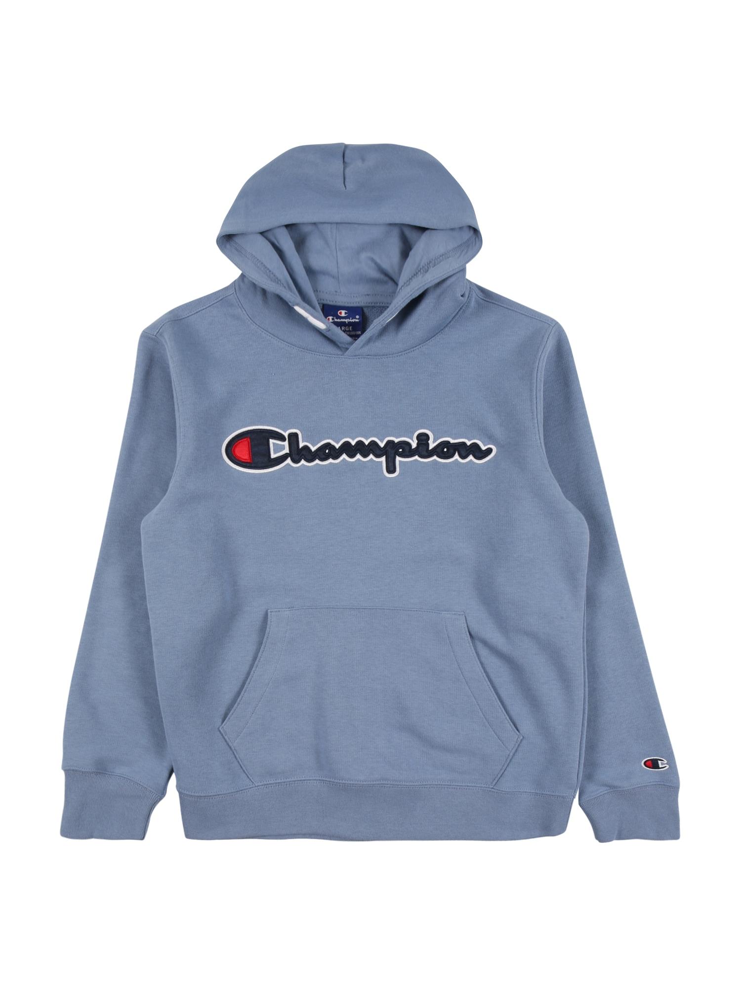 Champion Authentic Athletic Apparel Megztinis be užsegimo alyvinė spalva / tamsiai mėlyna / balta / raudona