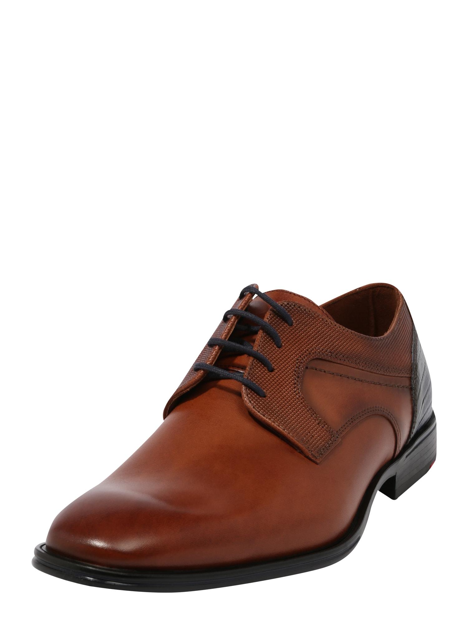 LLOYD Šněrovací boty 'Gilbert'  koňaková / tmavě modrá