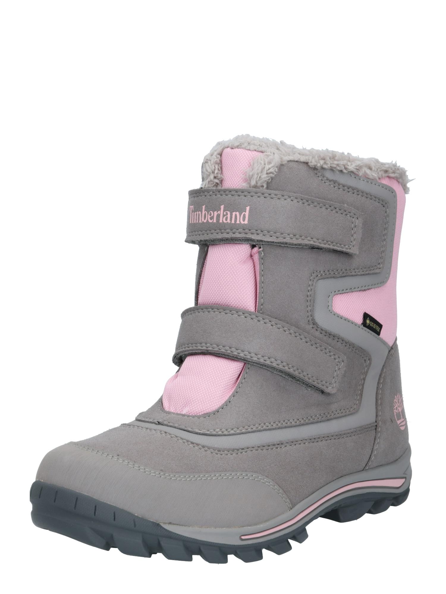 TIMBERLAND Sniego batai 'Chillberg' pilka / rožių spalva