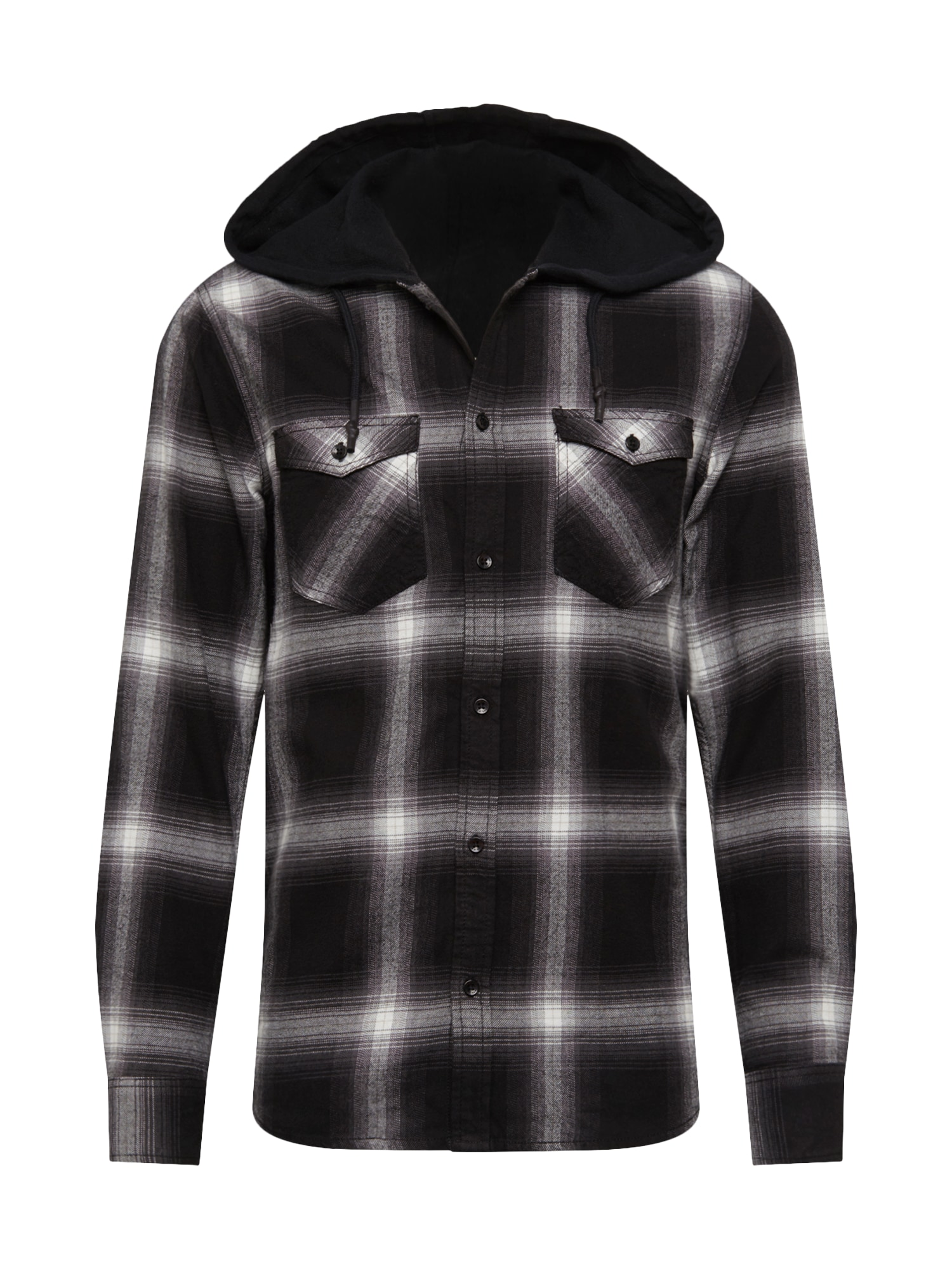 Cars Jeans Košile 'CHANDON'  černá / bílá / šedá / tmavě šedá