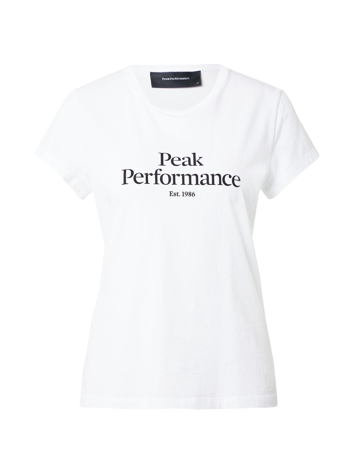 PEAK PERFORMANCE Sportiniai marškinėliai balta / juoda