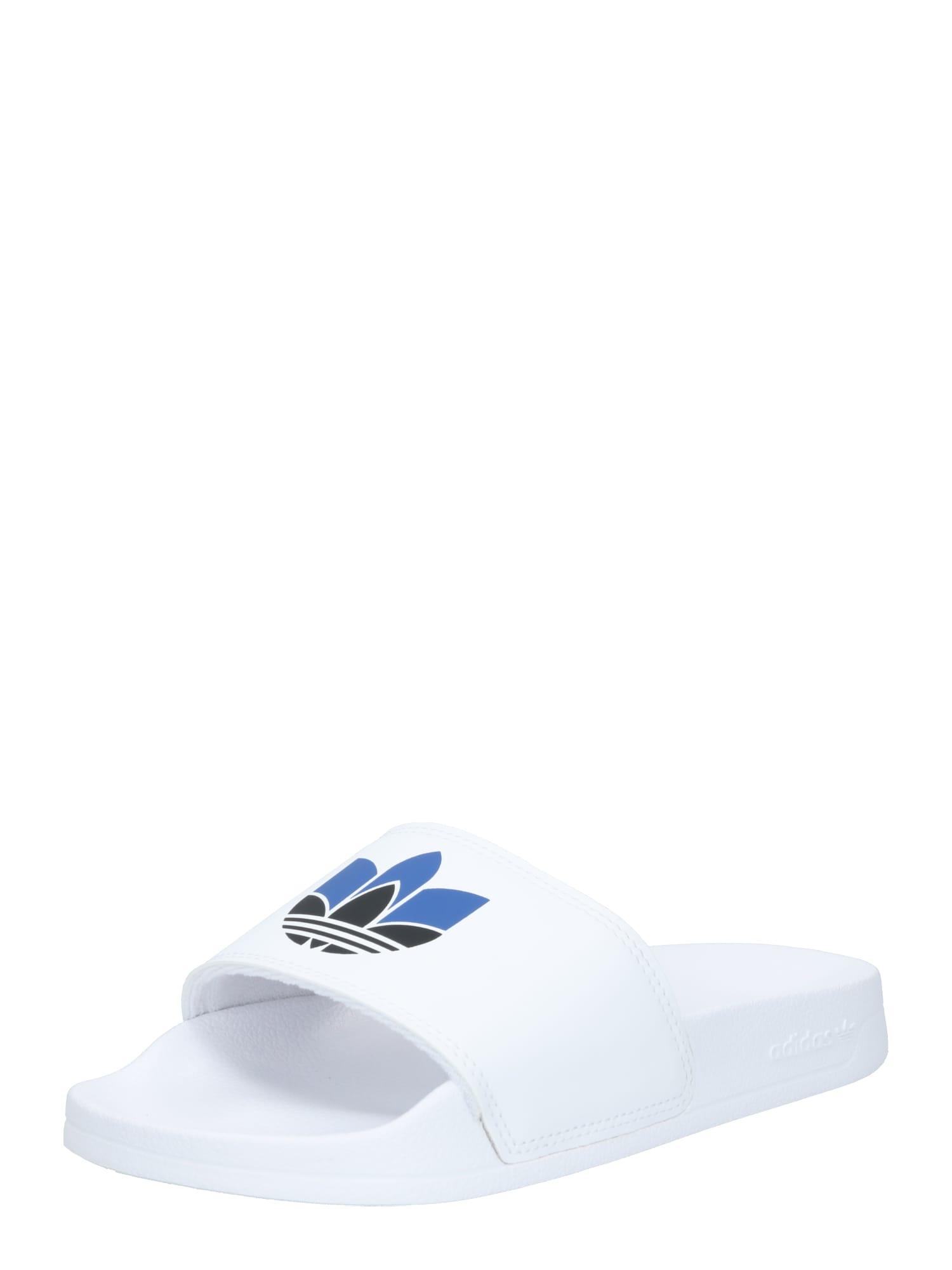 ADIDAS ORIGINALS Pantofle 'Adilette Lite'  bílá / královská modrá / černá