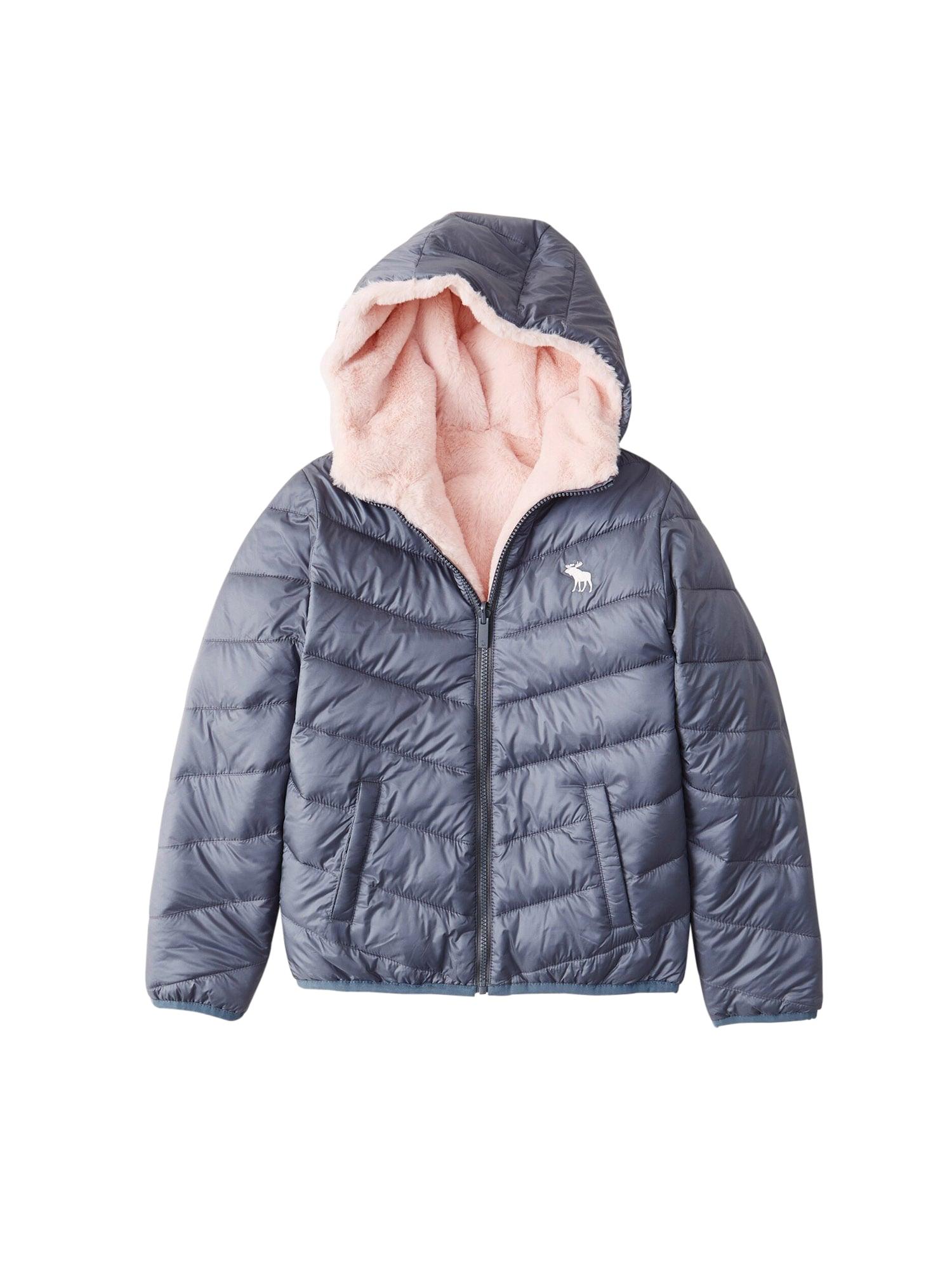Abercrombie & Fitch Žieminė striukė tamsiai mėlyna