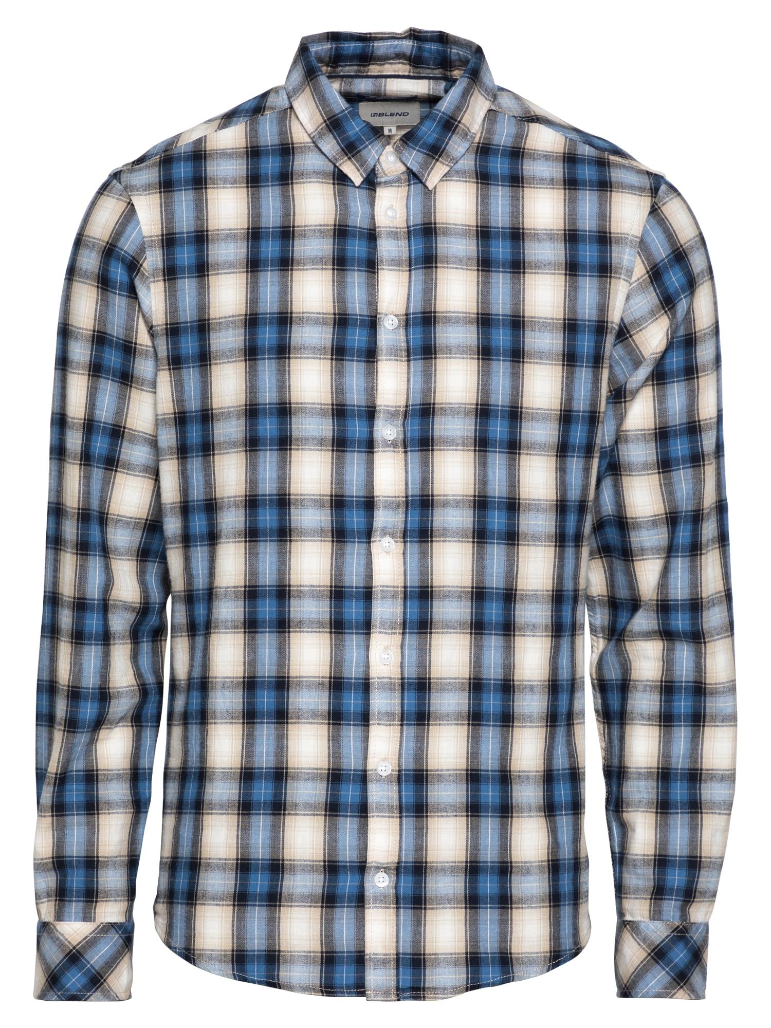 BLEND Marškiniai dangaus žydra / mėlyna / pudros spalva / smėlio / juoda