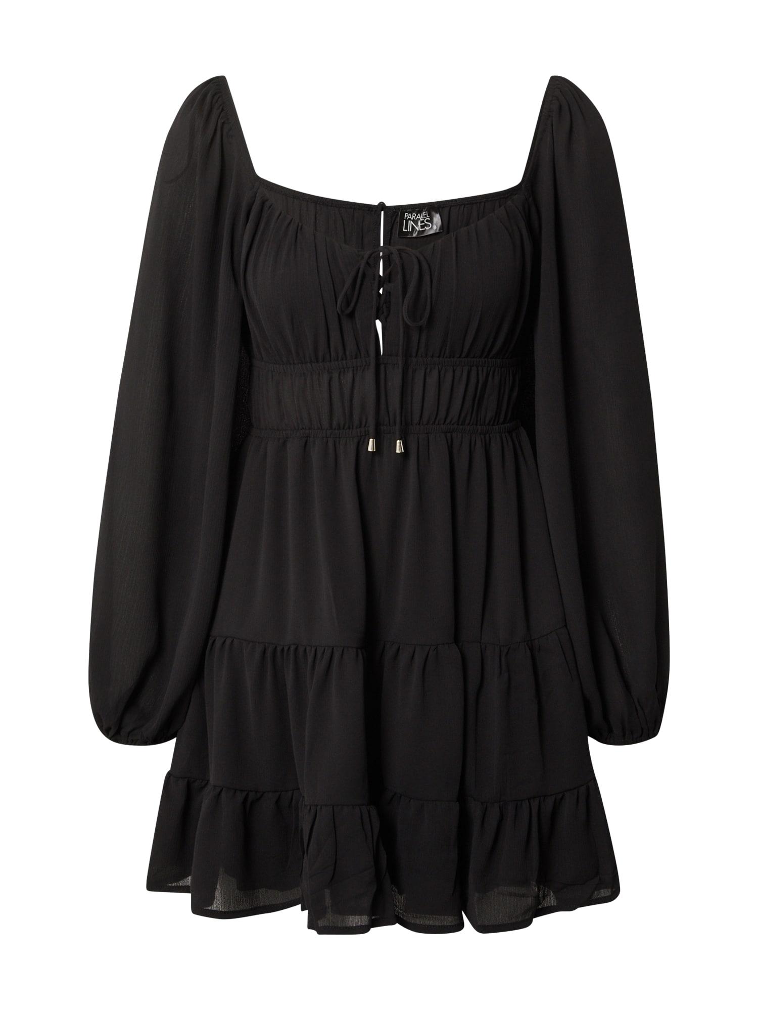 Parallel Lines Šaty  černá