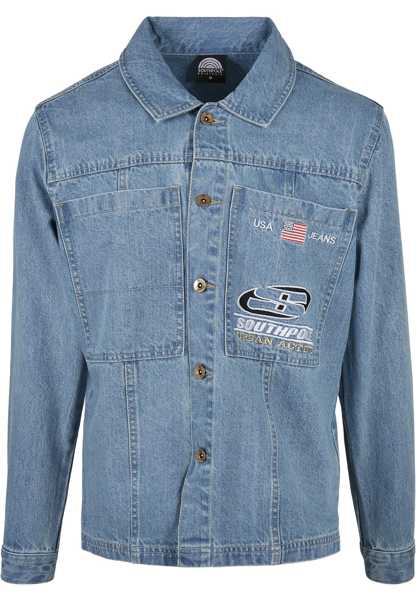 SOUTHPOLE Marškiniai tamsiai (džinso) mėlyna