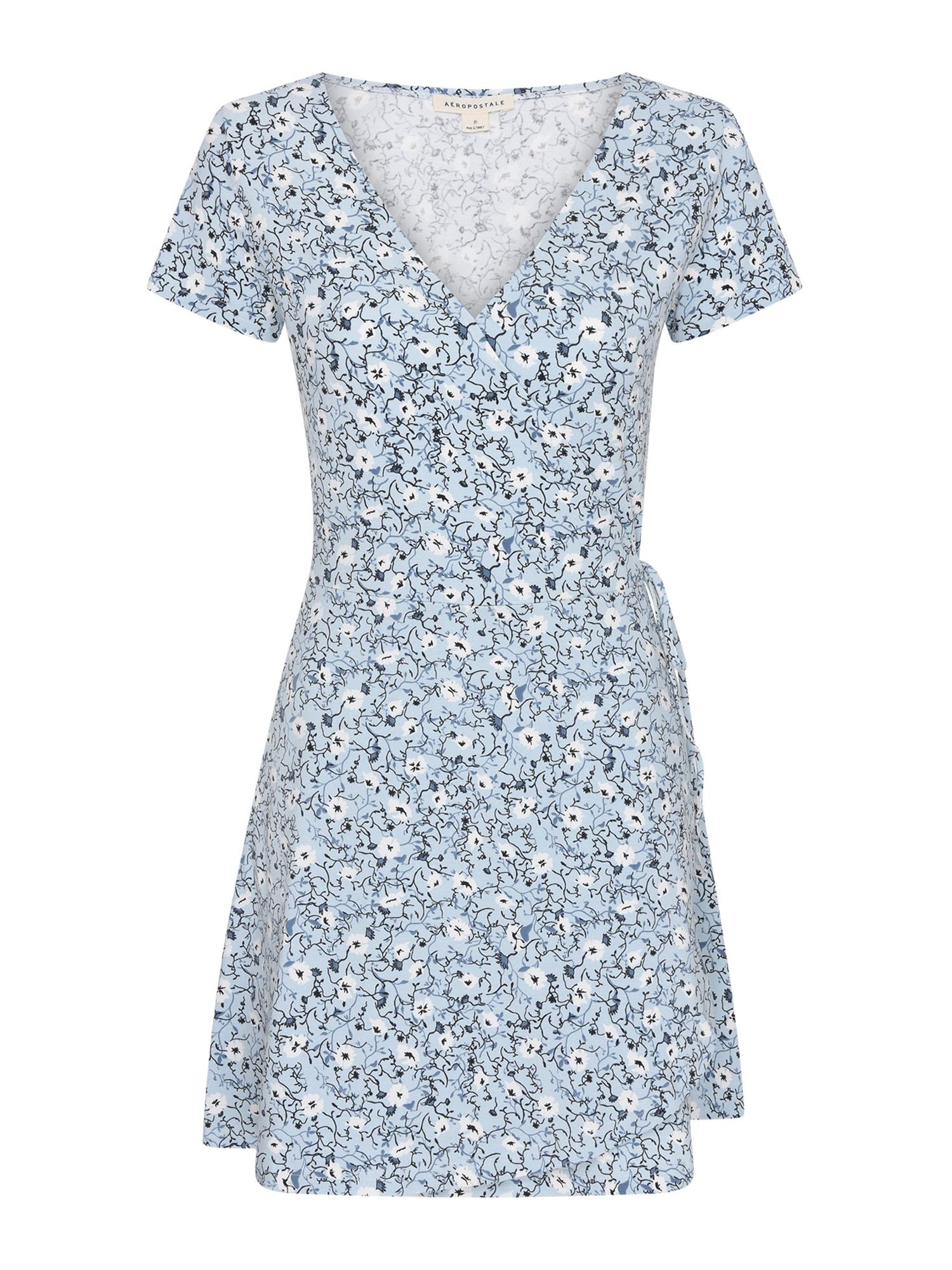 AÈROPOSTALE Vasarinė suknelė mėlyna / šviesiai mėlyna / balta