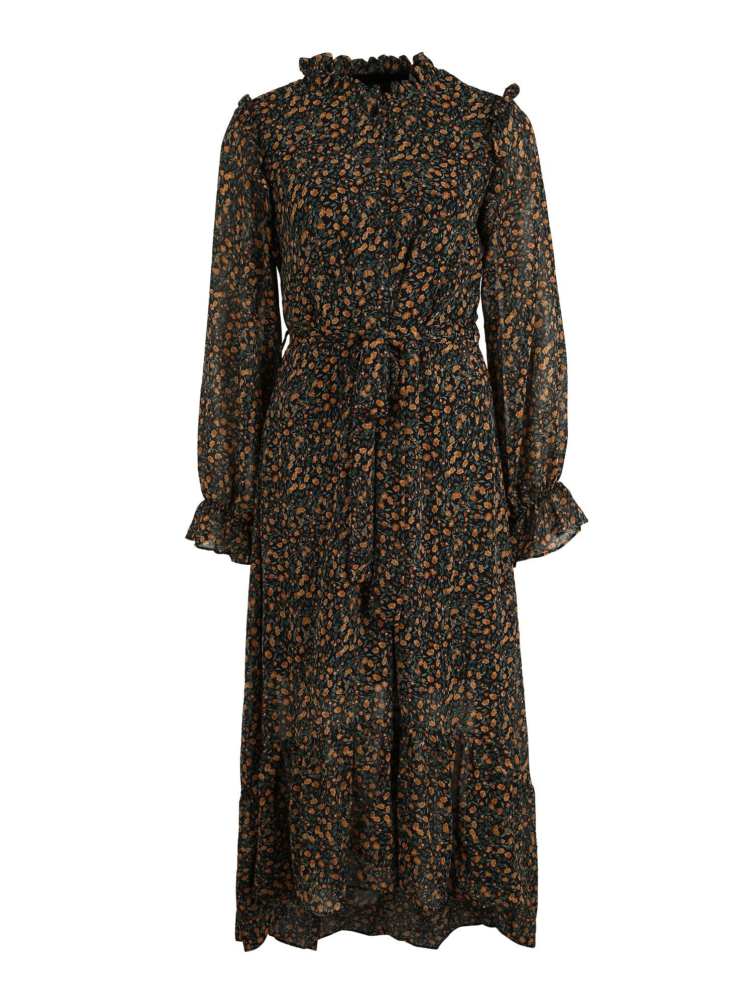 Missguided (Tall) Suknelė juoda / žalia / ruda