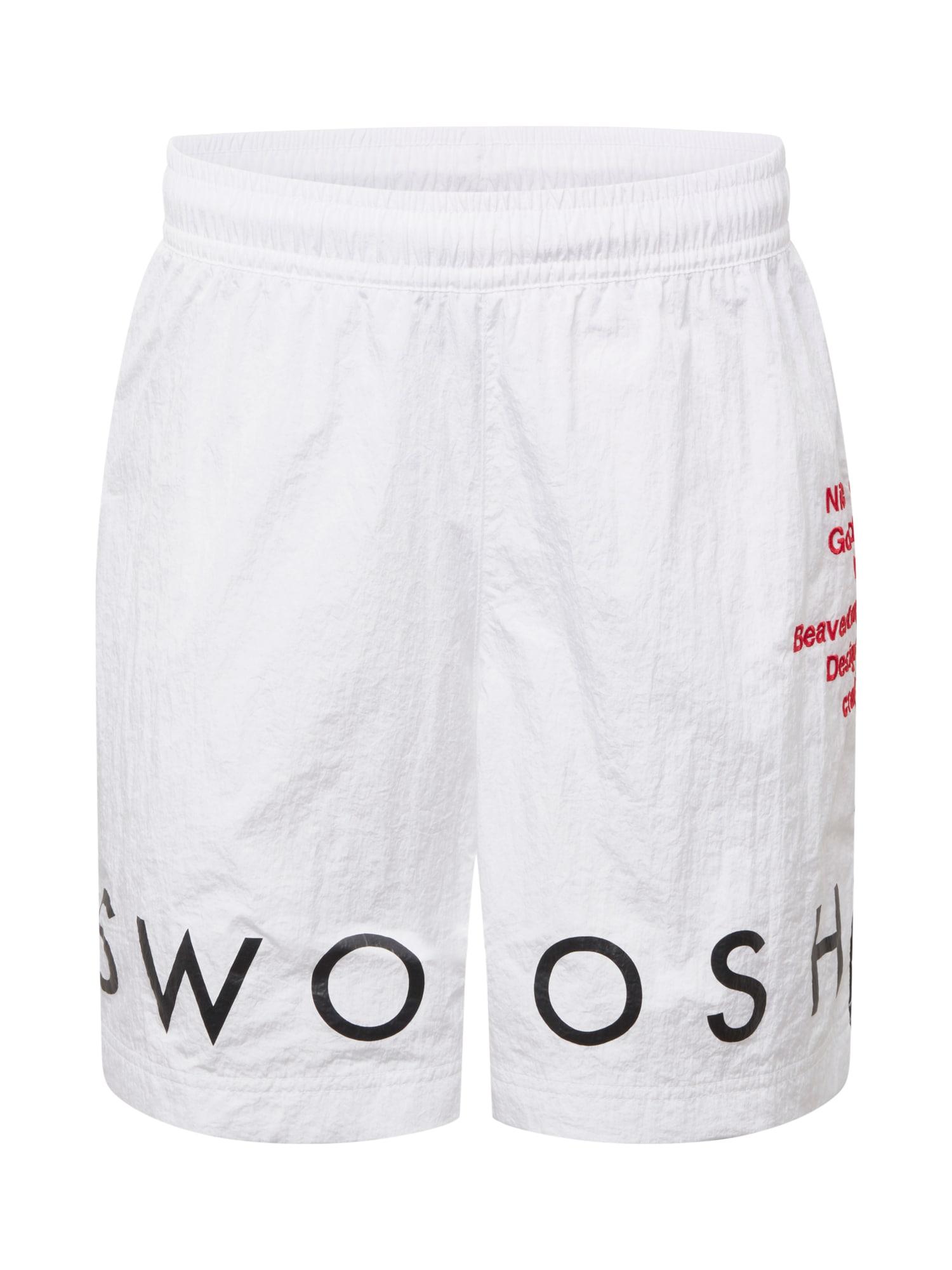 Nike Sportswear Sportovní kalhoty  bílá / černá / červená