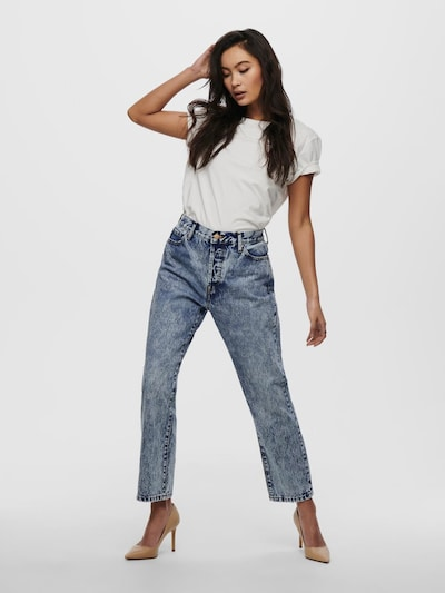 Only Fine High Rise Straight Leg Jeans