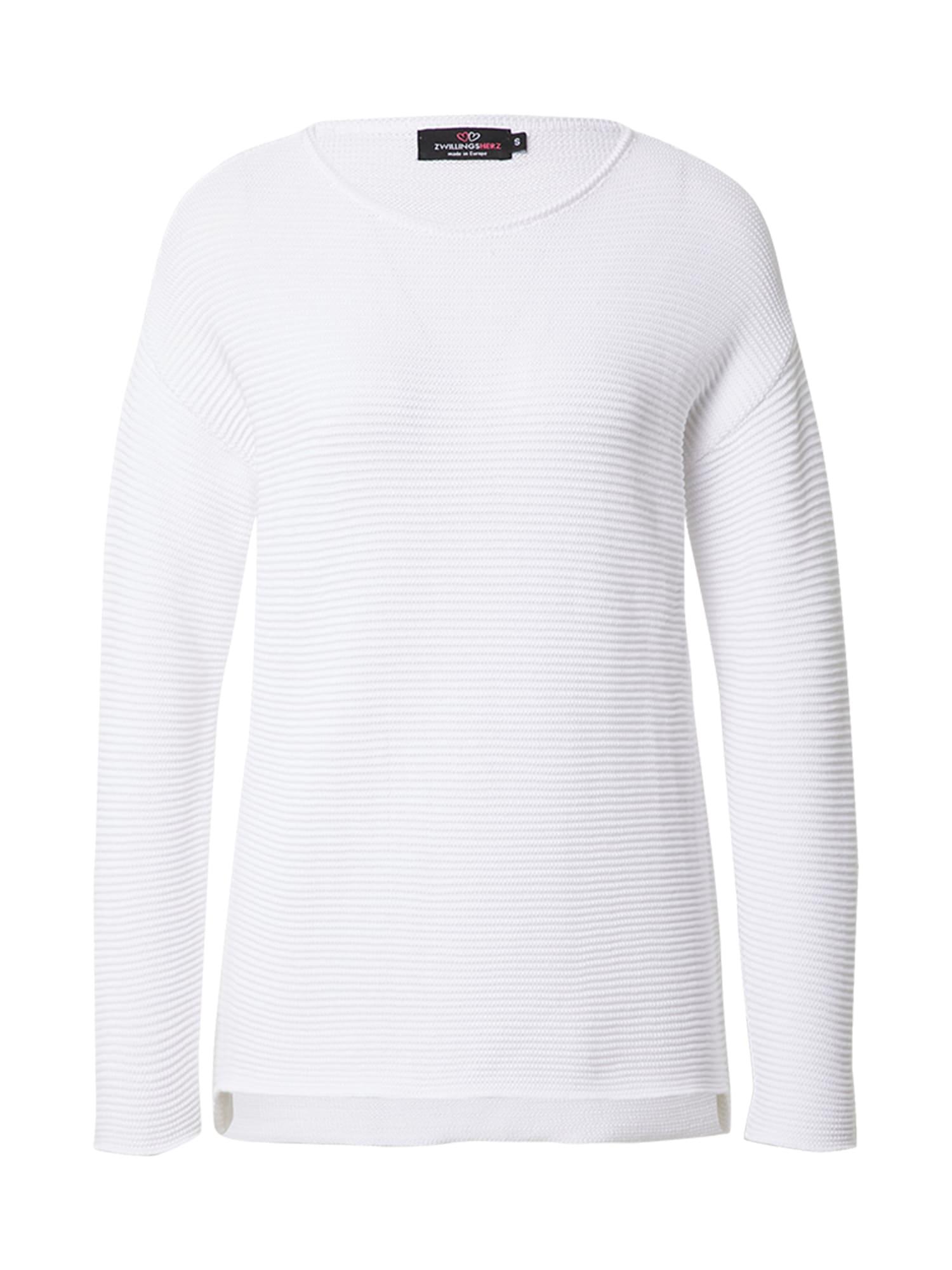 Zwillingsherz Megztinis natūrali balta