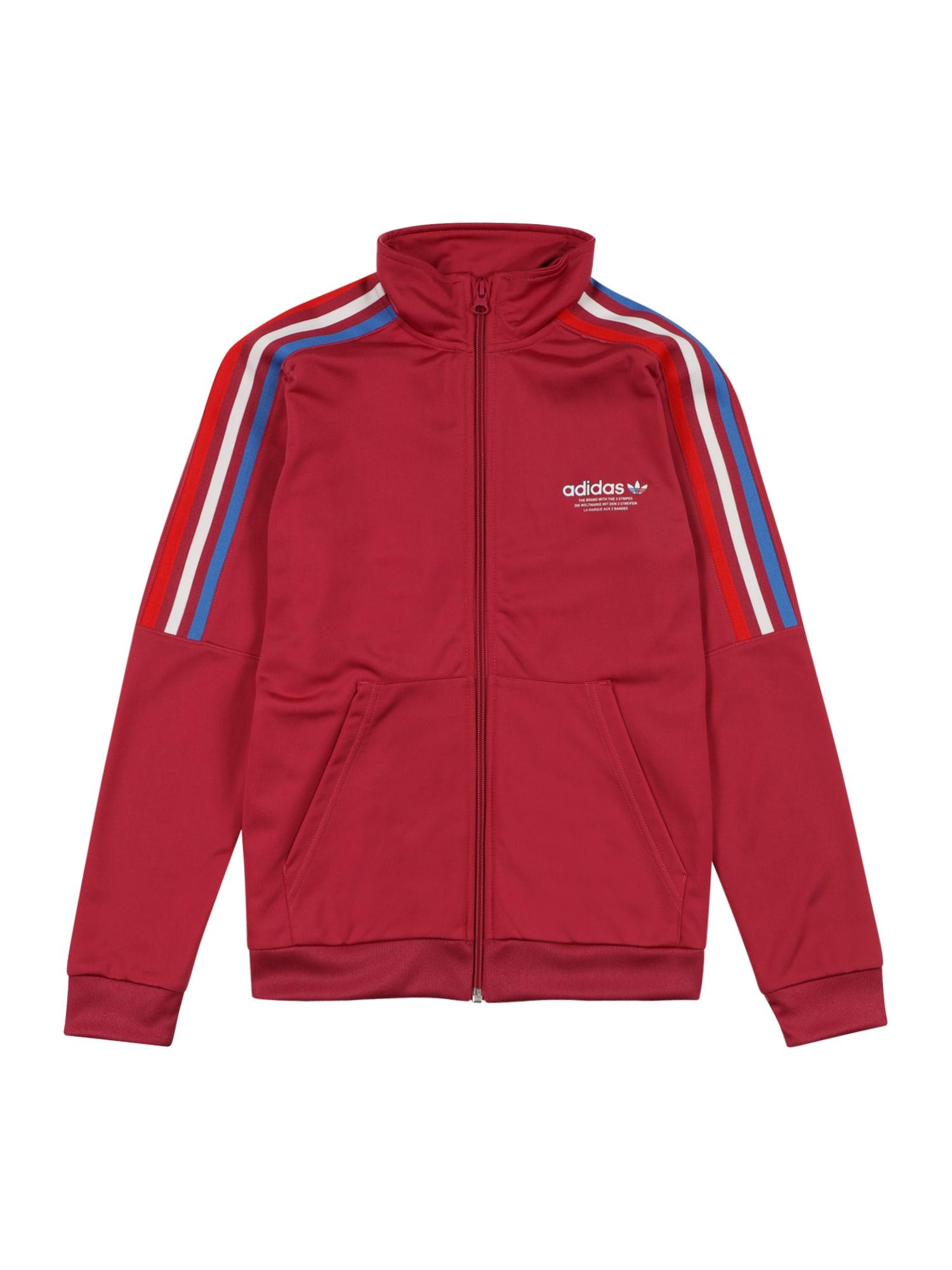 ADIDAS ORIGINALS Džemperis 'Adicolor Originals' rožinė / balta / raudona / mėlyna