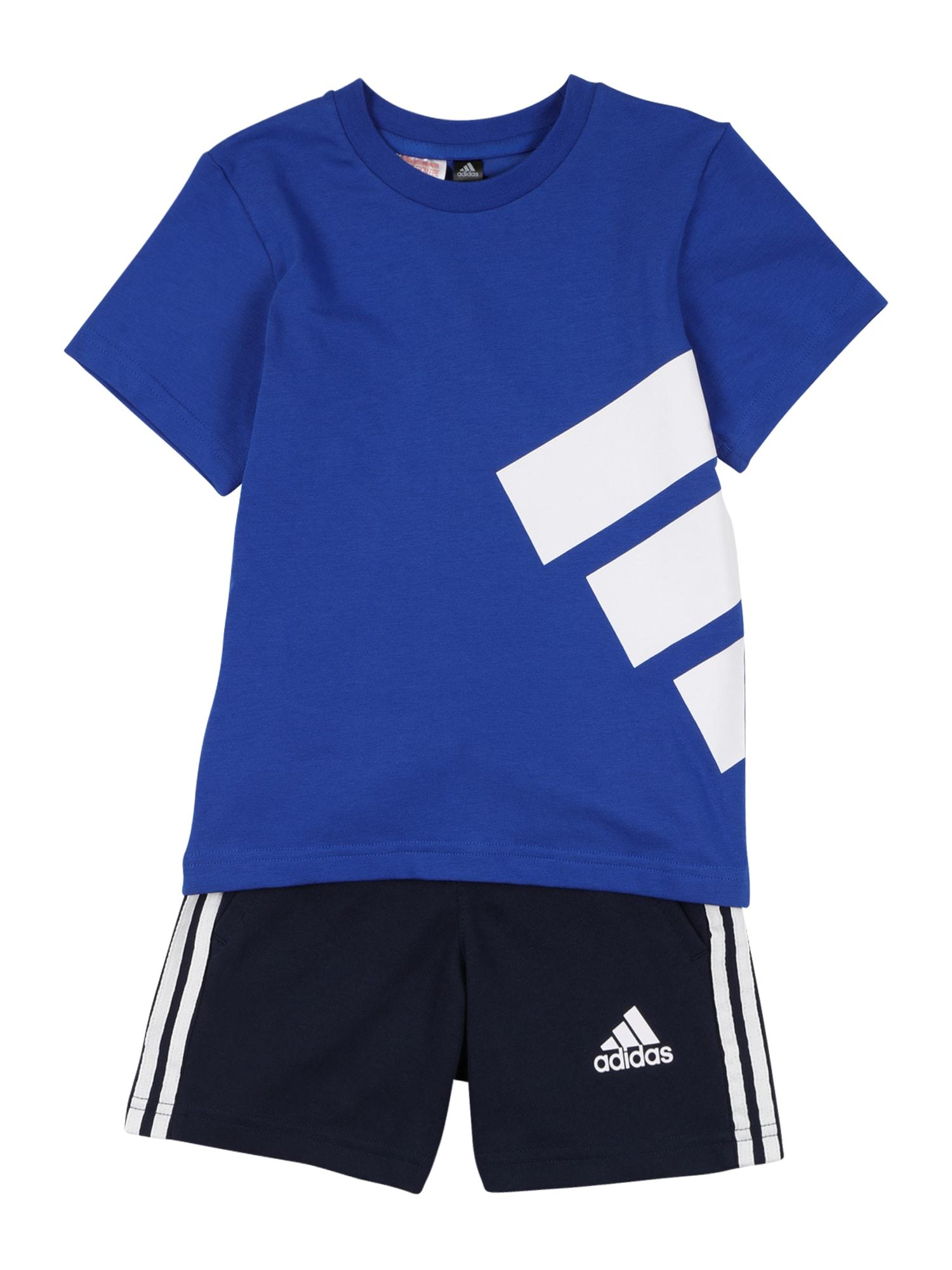 ADIDAS PERFORMANCE Treniruočių kostiumas mėlyna / nakties mėlyna / balta