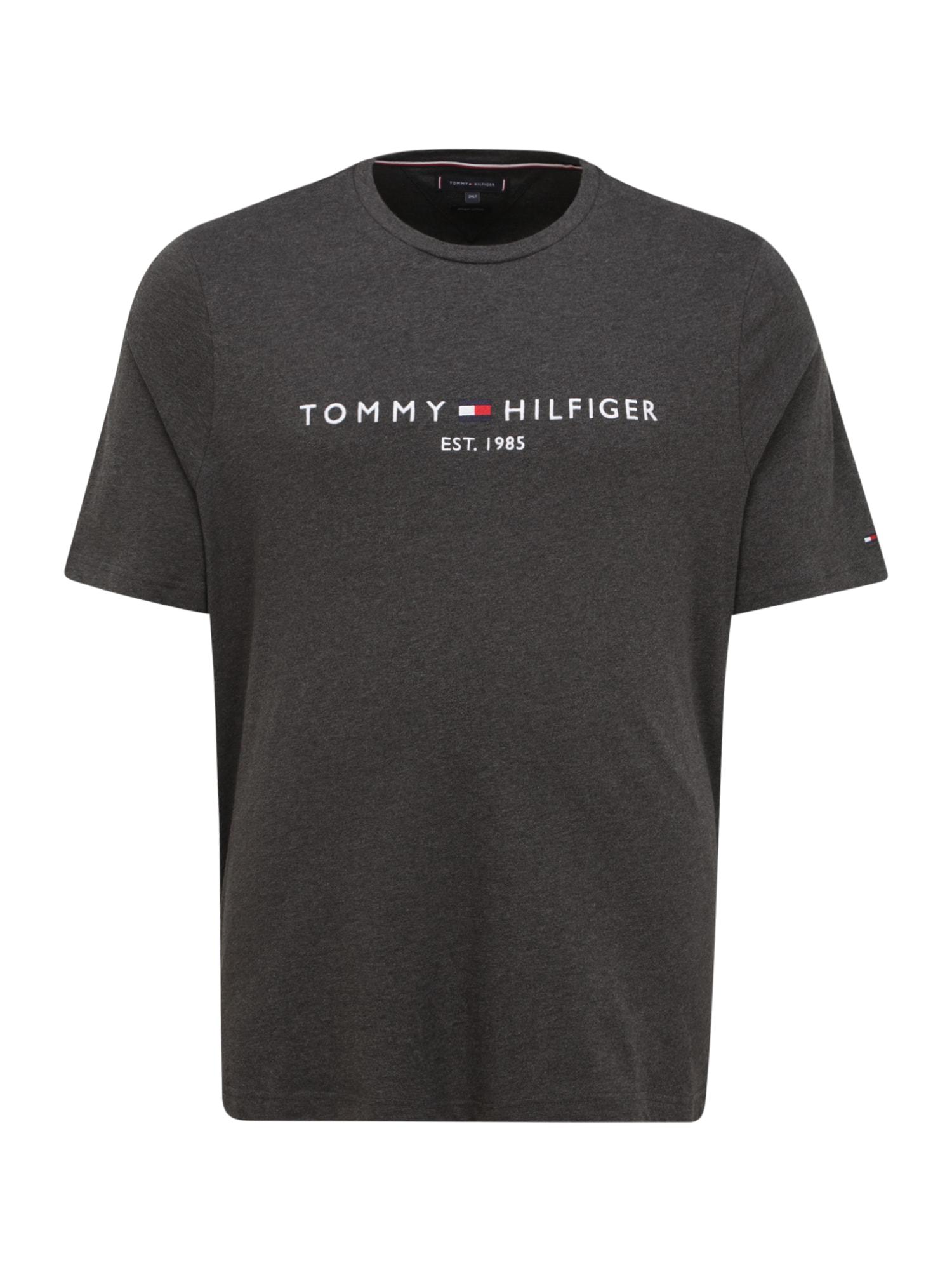 Tommy Hilfiger Big & Tall Marškinėliai grafito / balta / nakties mėlyna / raudona