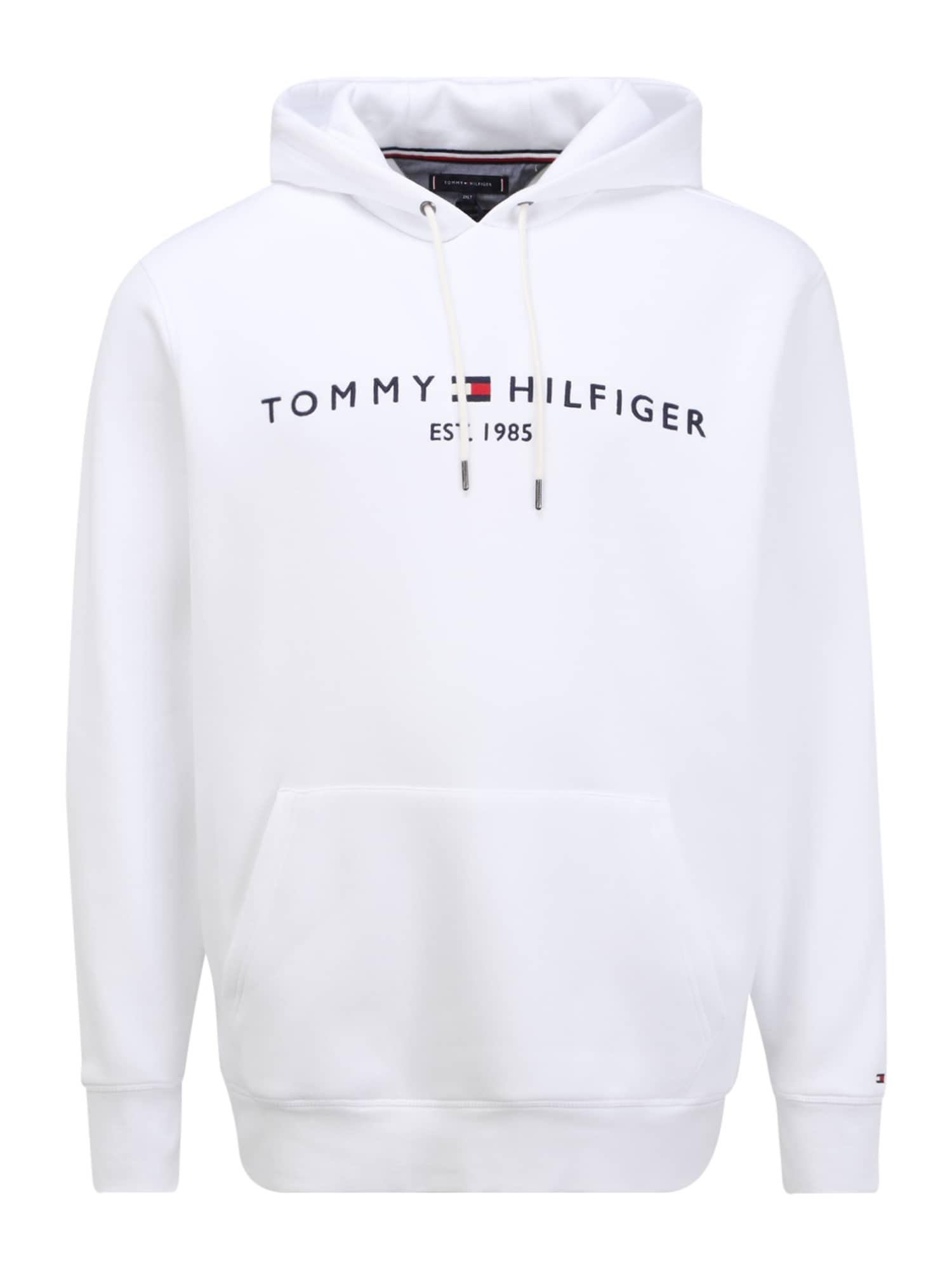 Tommy Hilfiger Big & Tall Megztinis be užsegimo balta / tamsiai mėlyna / raudona