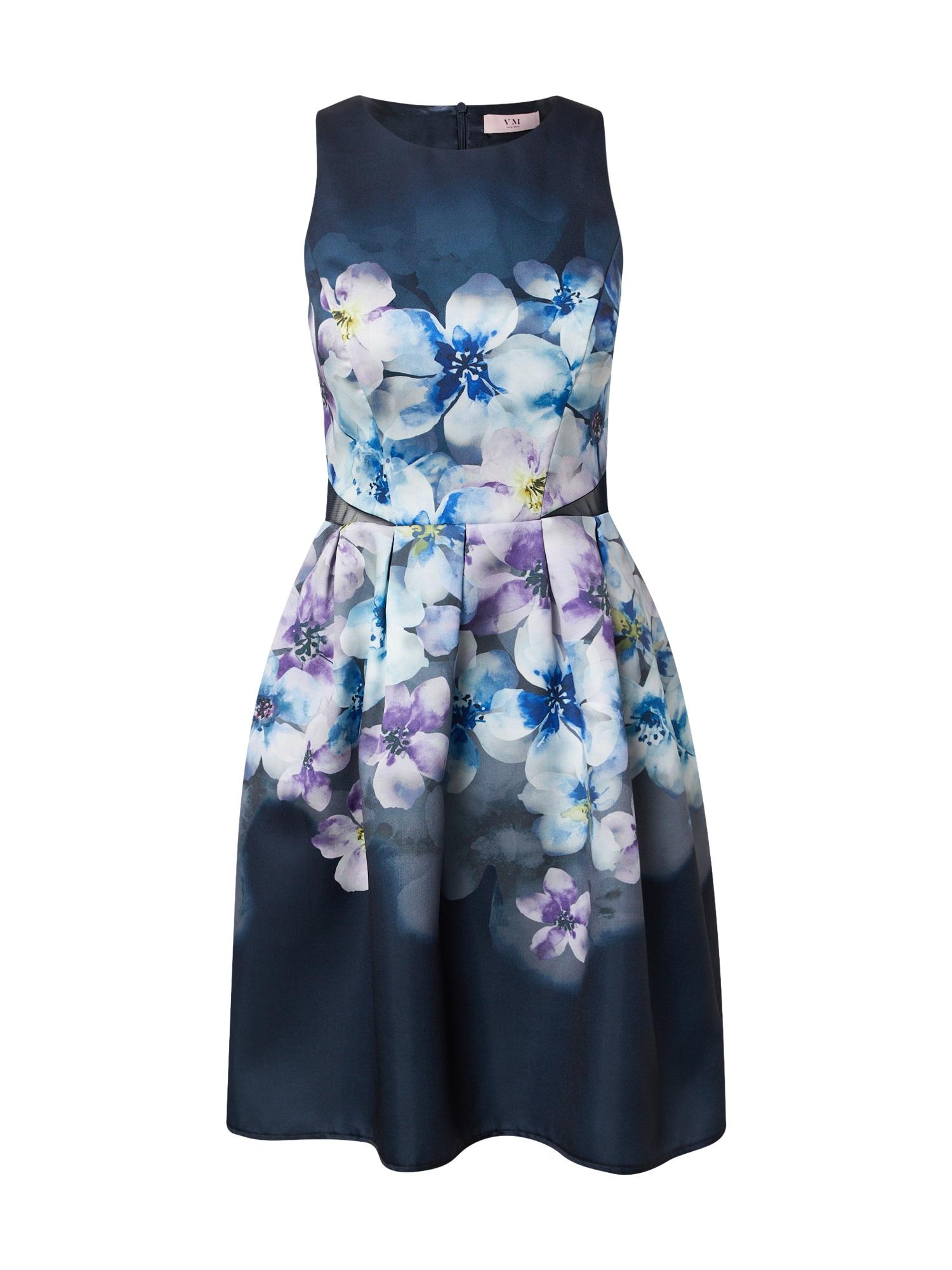 VM Vera Mont Kokteilinė suknelė nakties mėlyna / šviesiai mėlyna / kremo / purpurinė