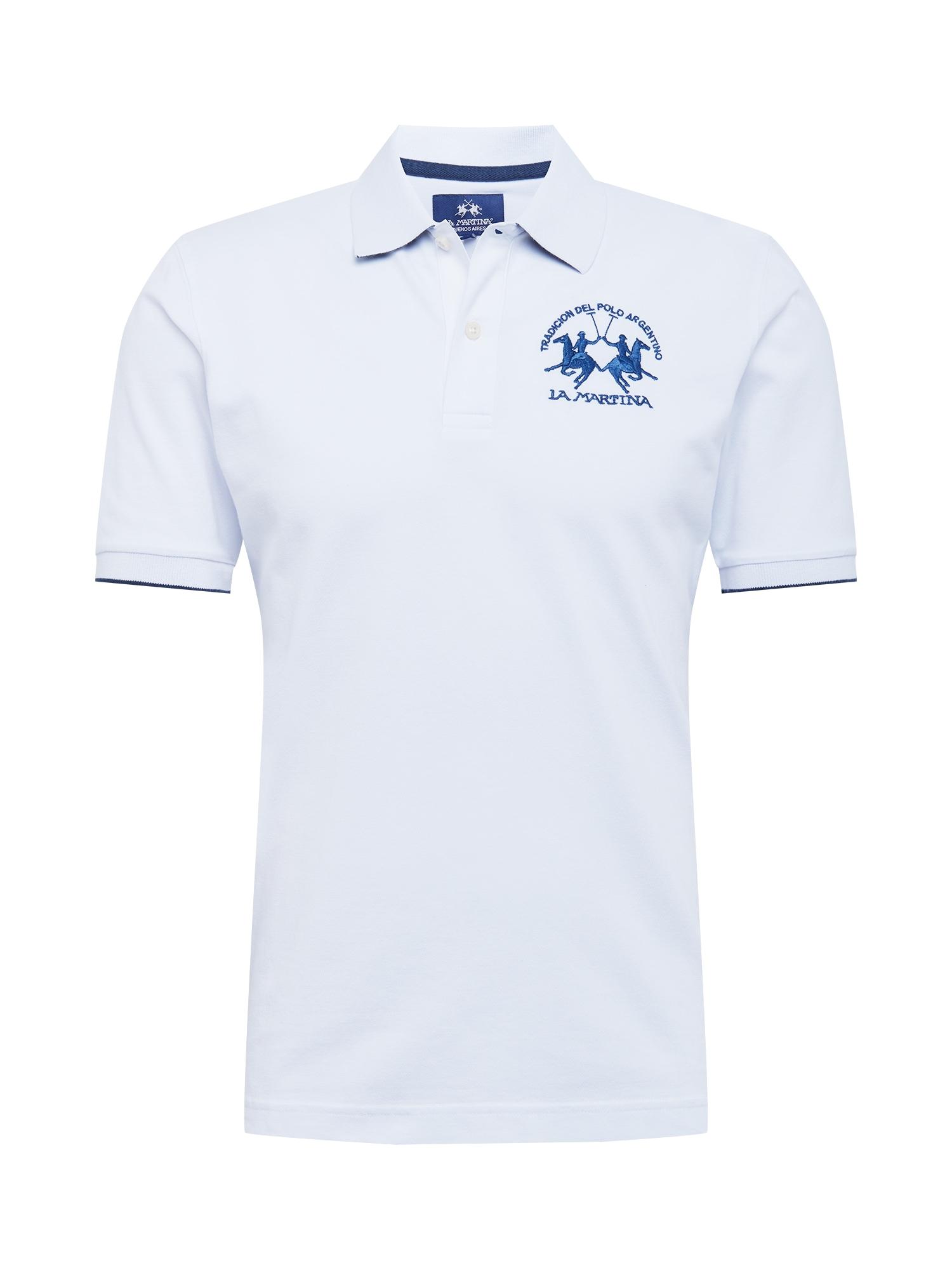 La Martina Marškinėliai balta / mėlyna