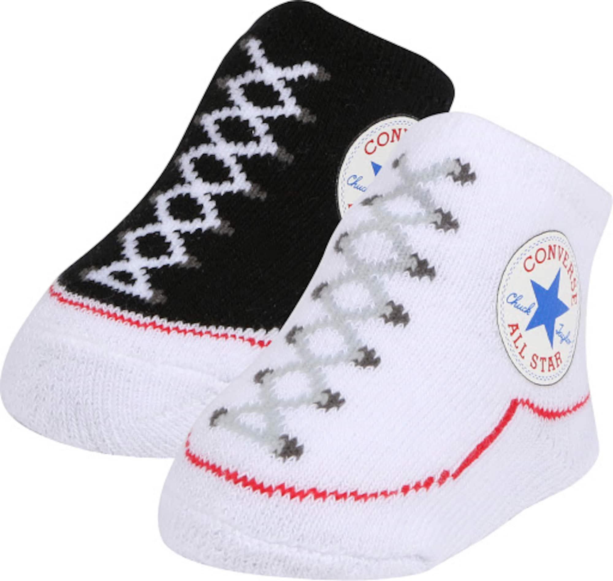 CONVERSE Ponožky 'Chuck Taylor'  černá / bílá / mix barev
