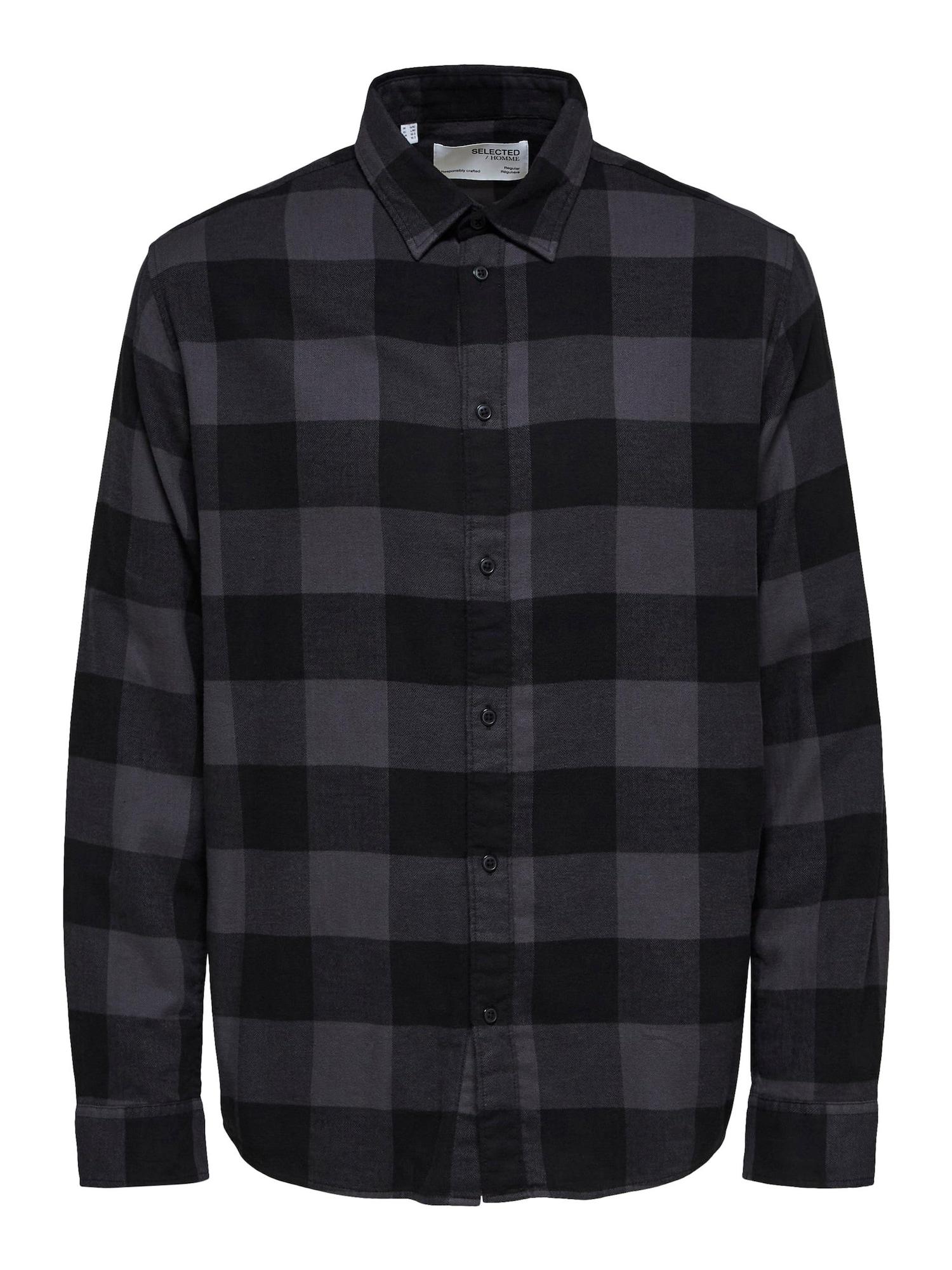 SELECTED HOMME Košile  černá / antracitová
