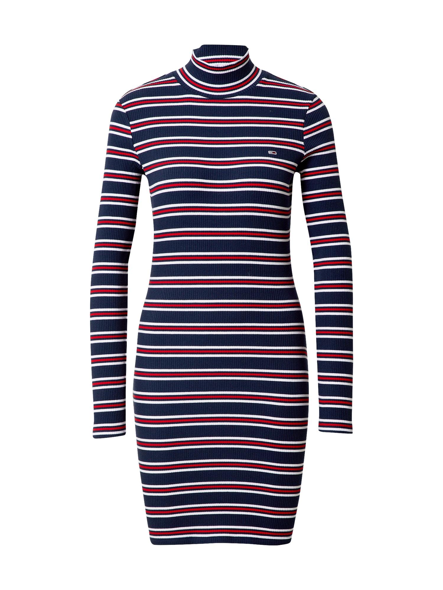 Tommy Jeans Košilové šaty  námořnická modř / bílá / červená