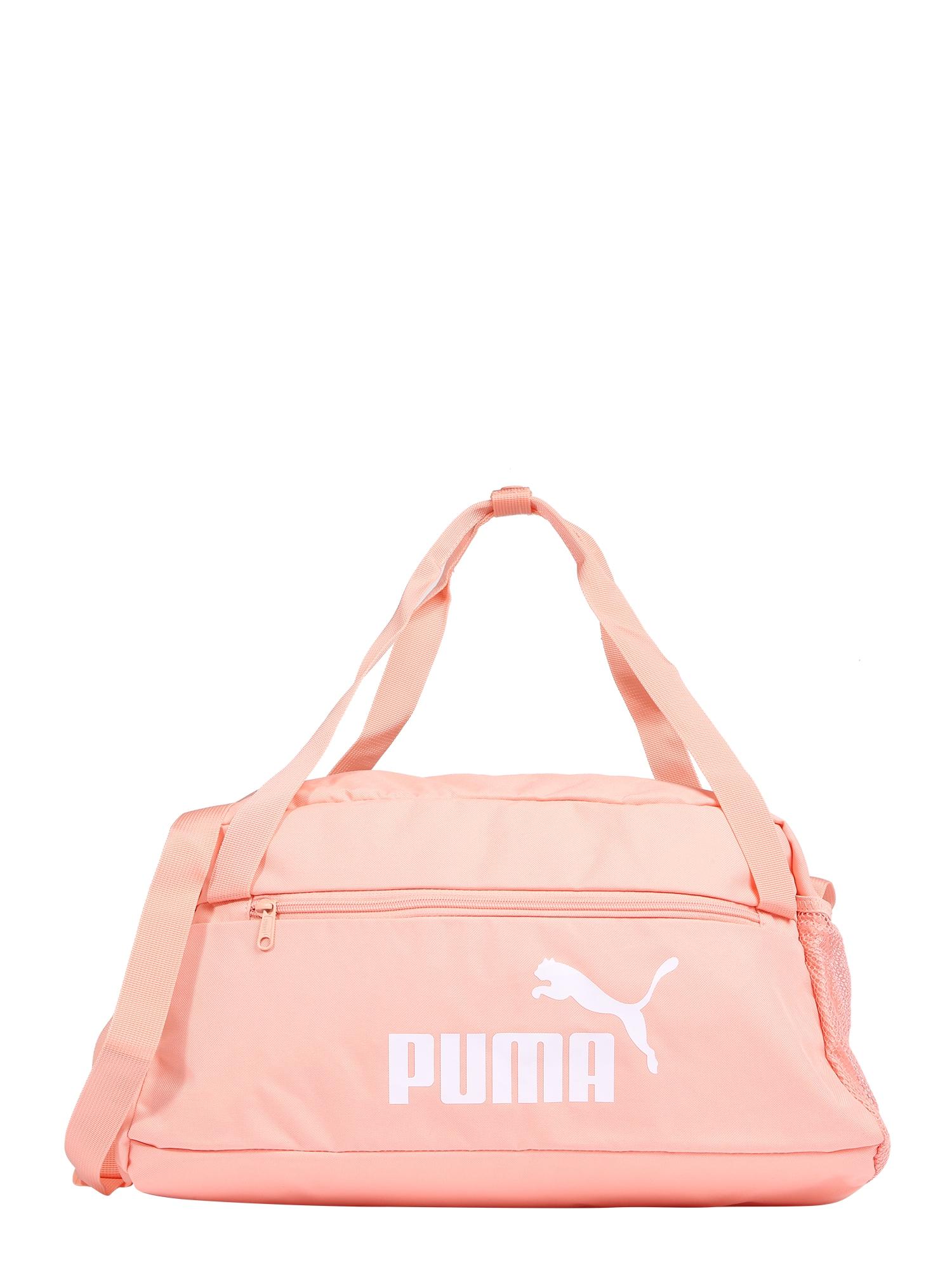 PUMA Sportinis krepšys abrikosų spalva / balta