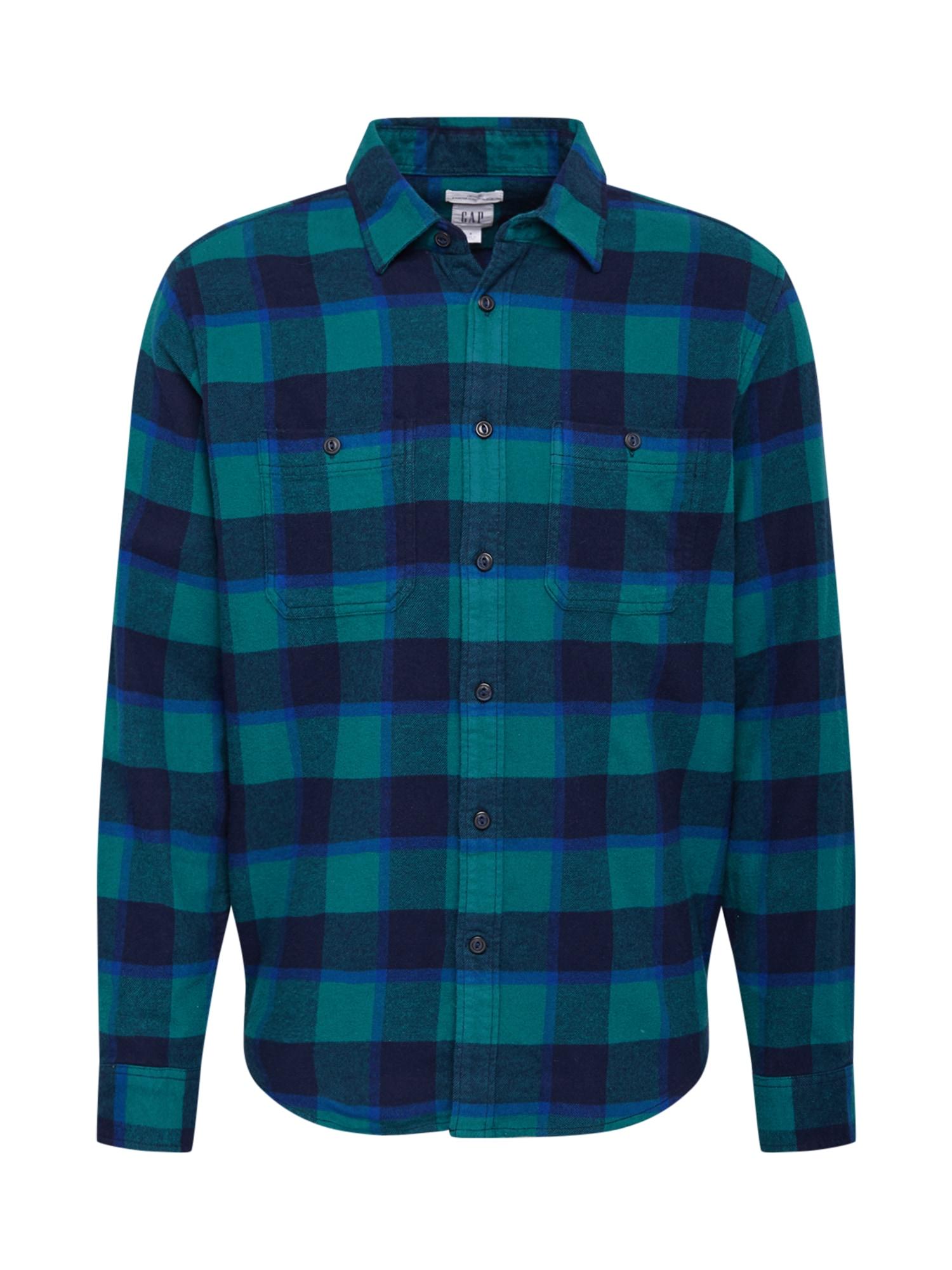 GAP Marškiniai benzino spalva / nakties mėlyna / turkio spalva