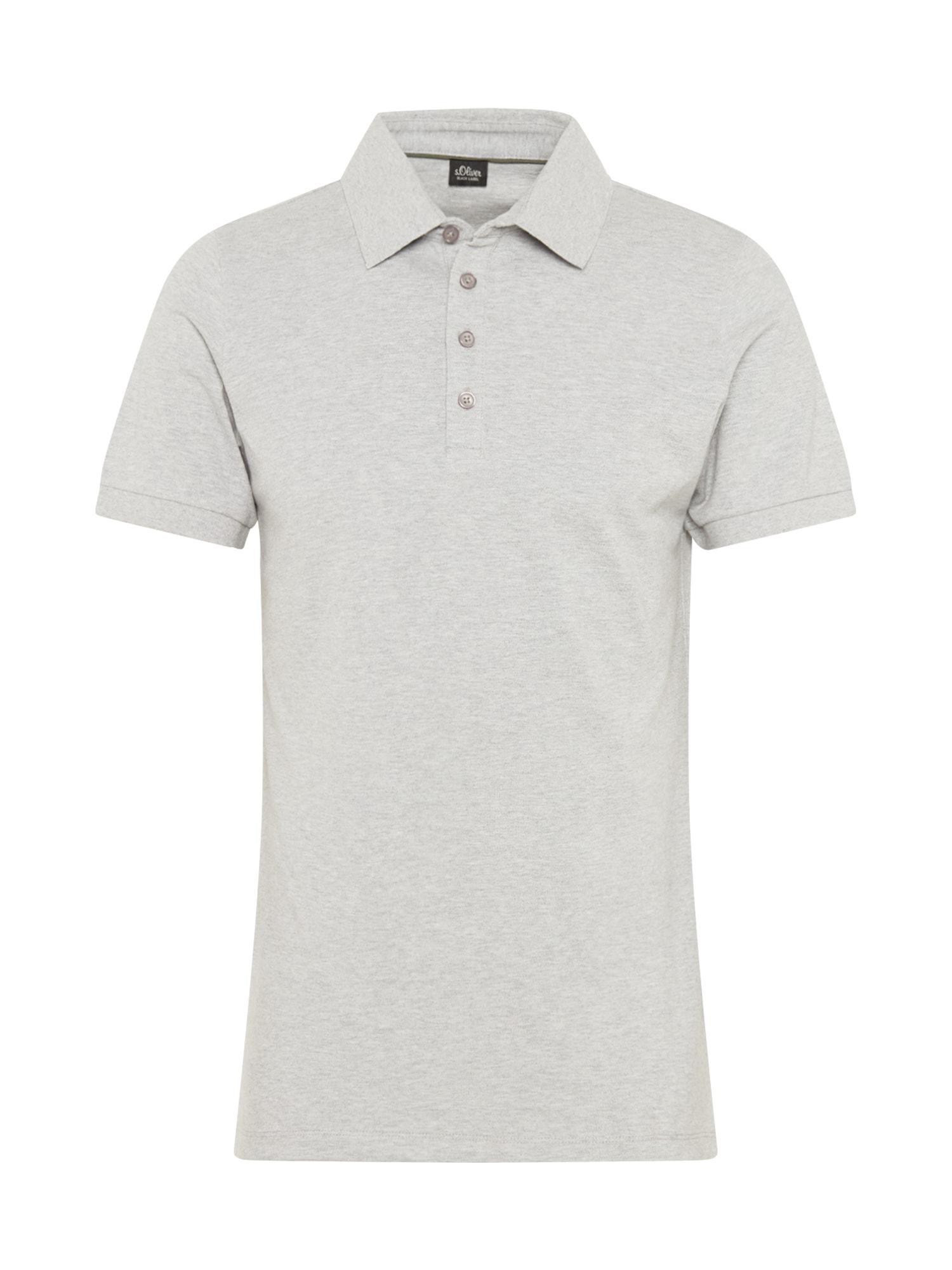 s.Oliver BLACK LABEL Marškinėliai margai pilka