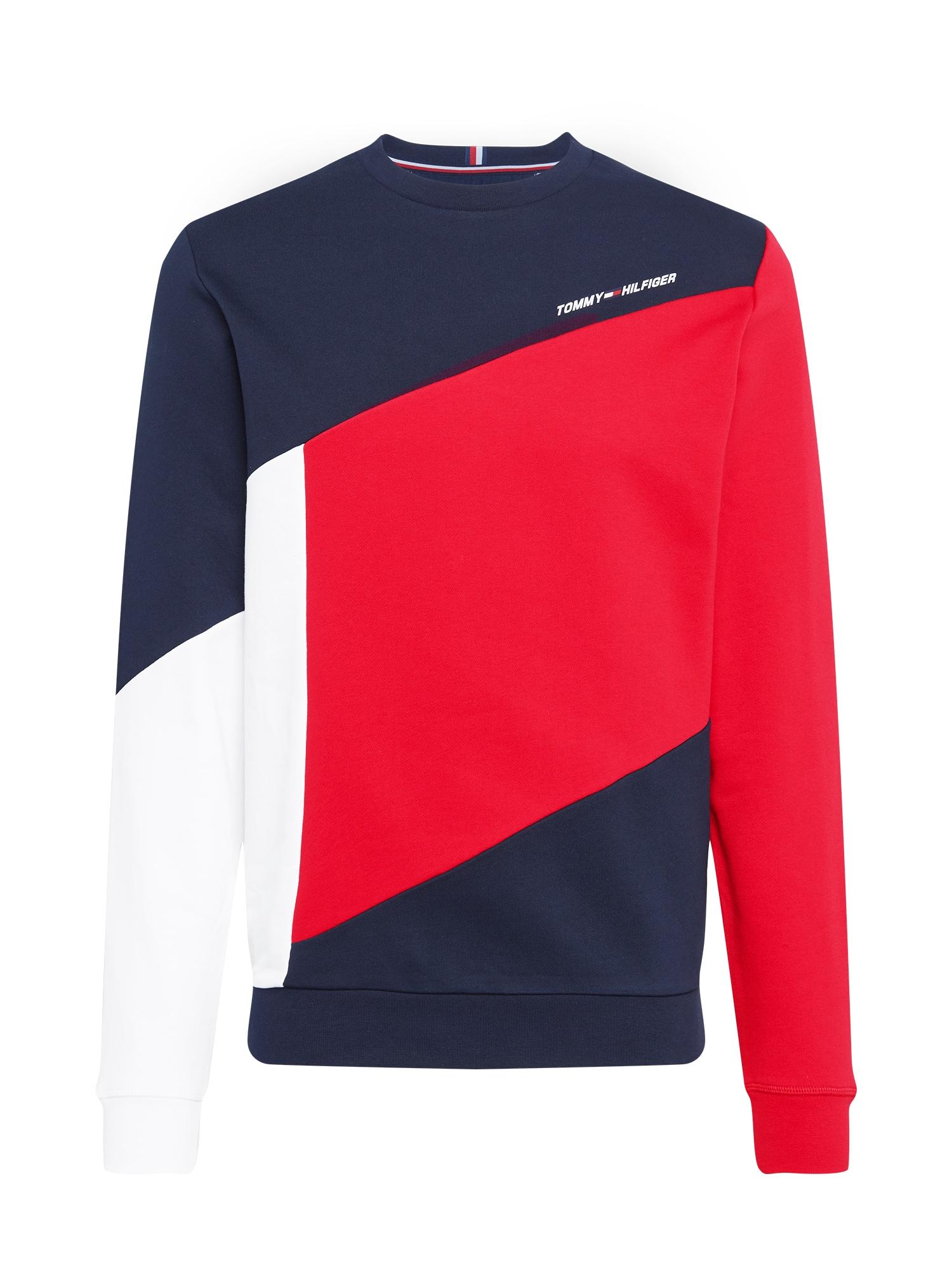 Tommy Sport Sportovní mikina 'TERRY'  tmavě modrá / bílá / červená