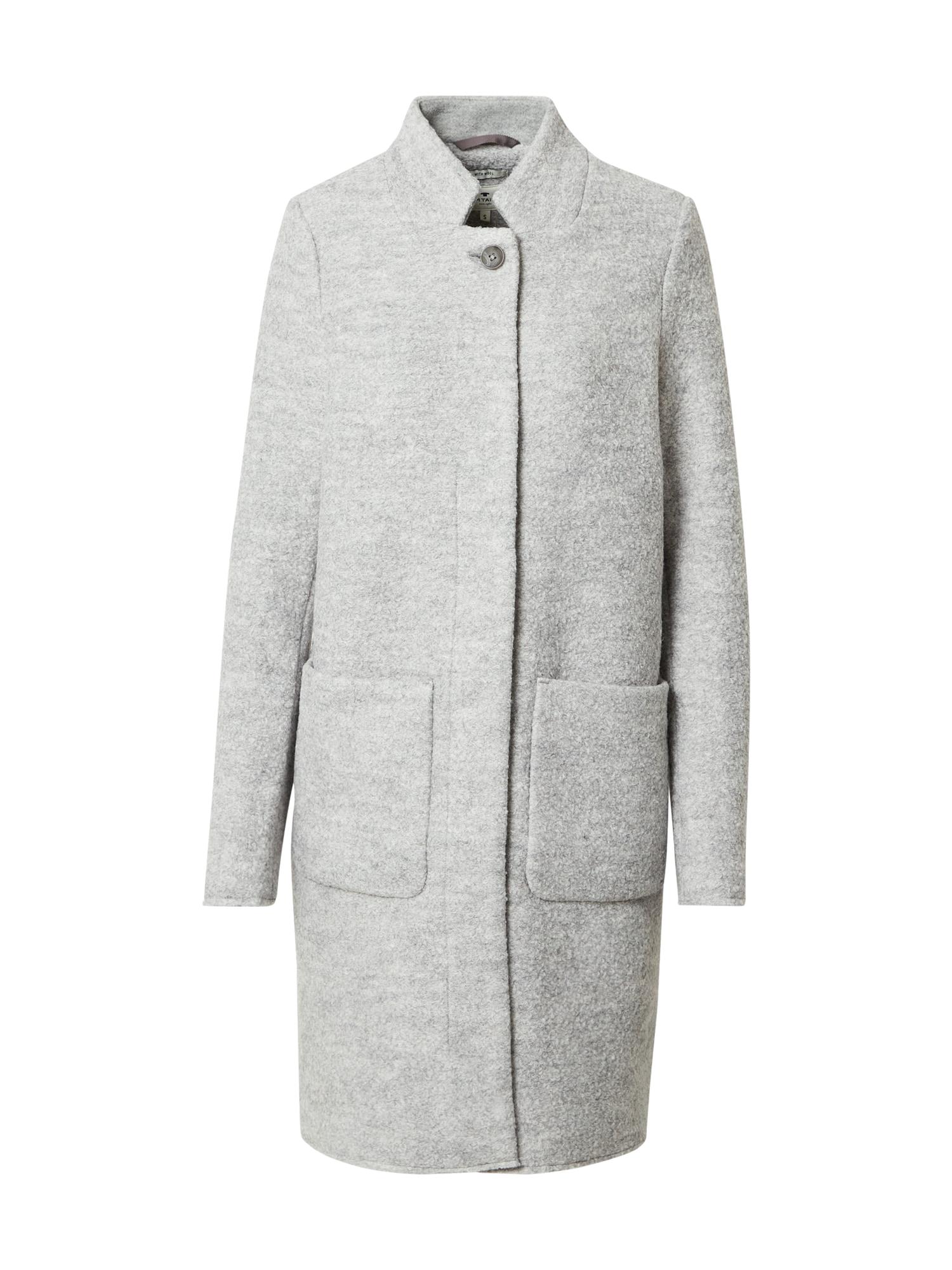 TOM TAILOR Demisezoninis paltas pilka