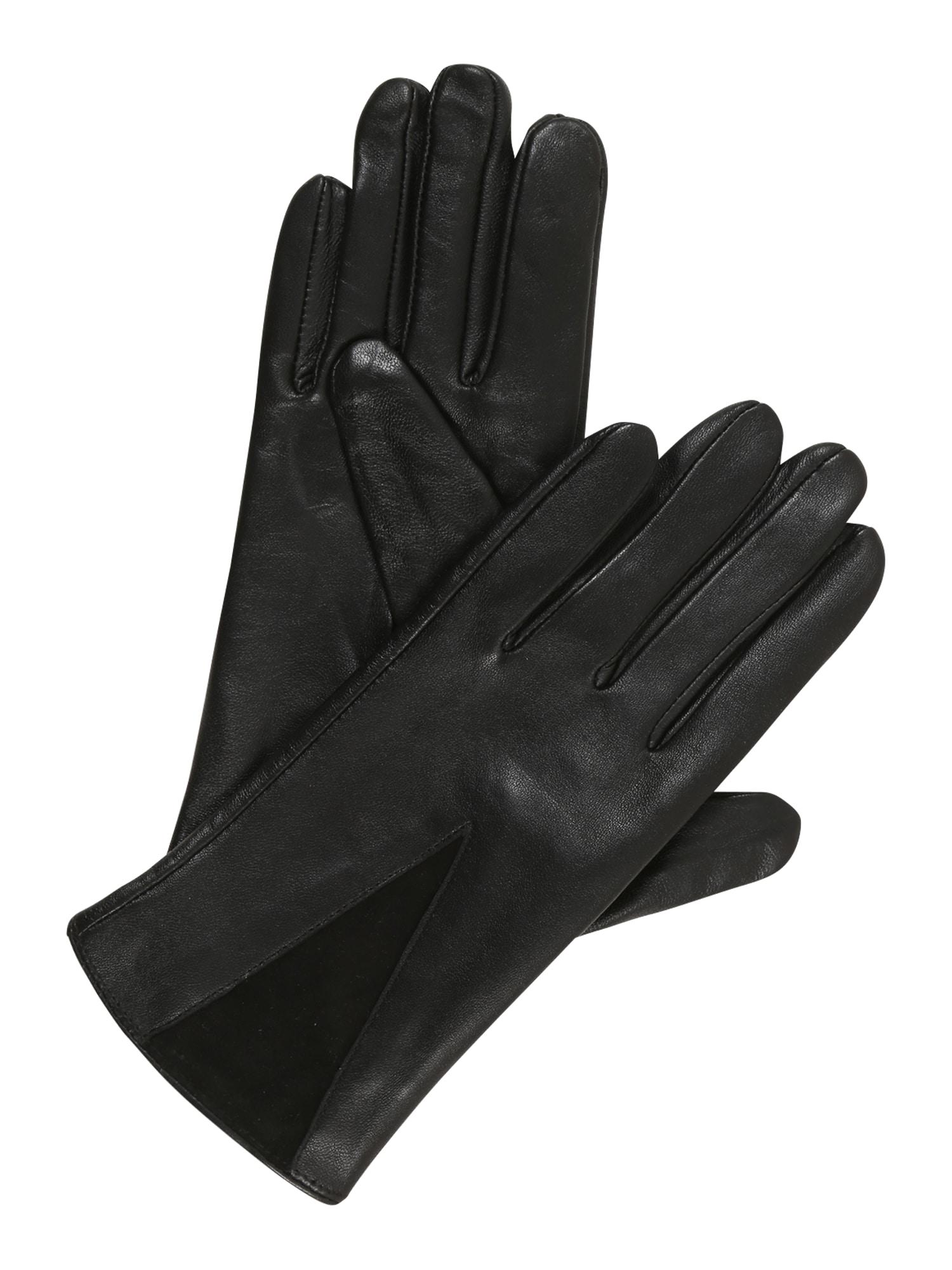 NÜMPH Prstové rukavice 'Breana'  černá
