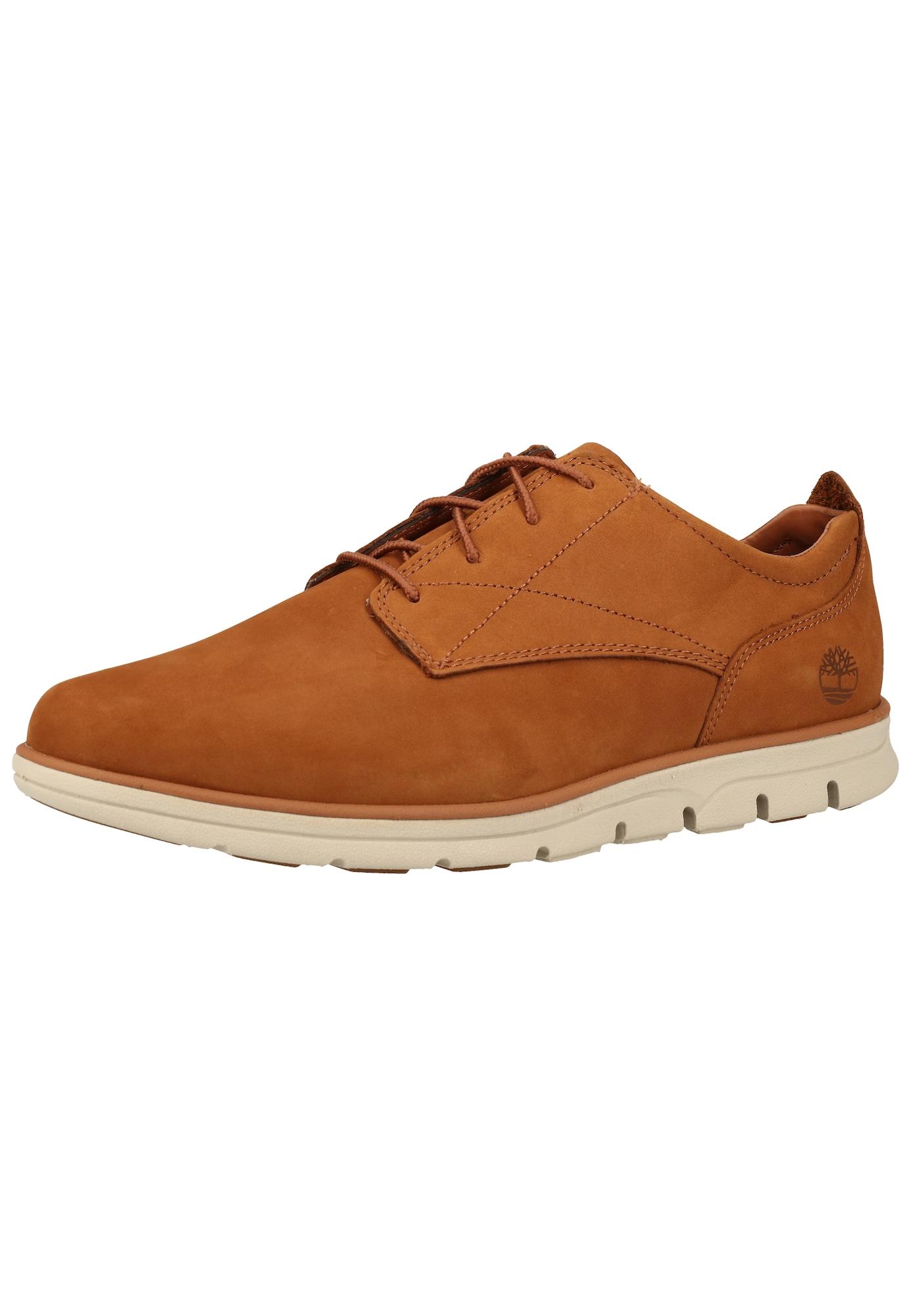 TIMBERLAND Sportinio stiliaus batai su raišteliais ruda (konjako)