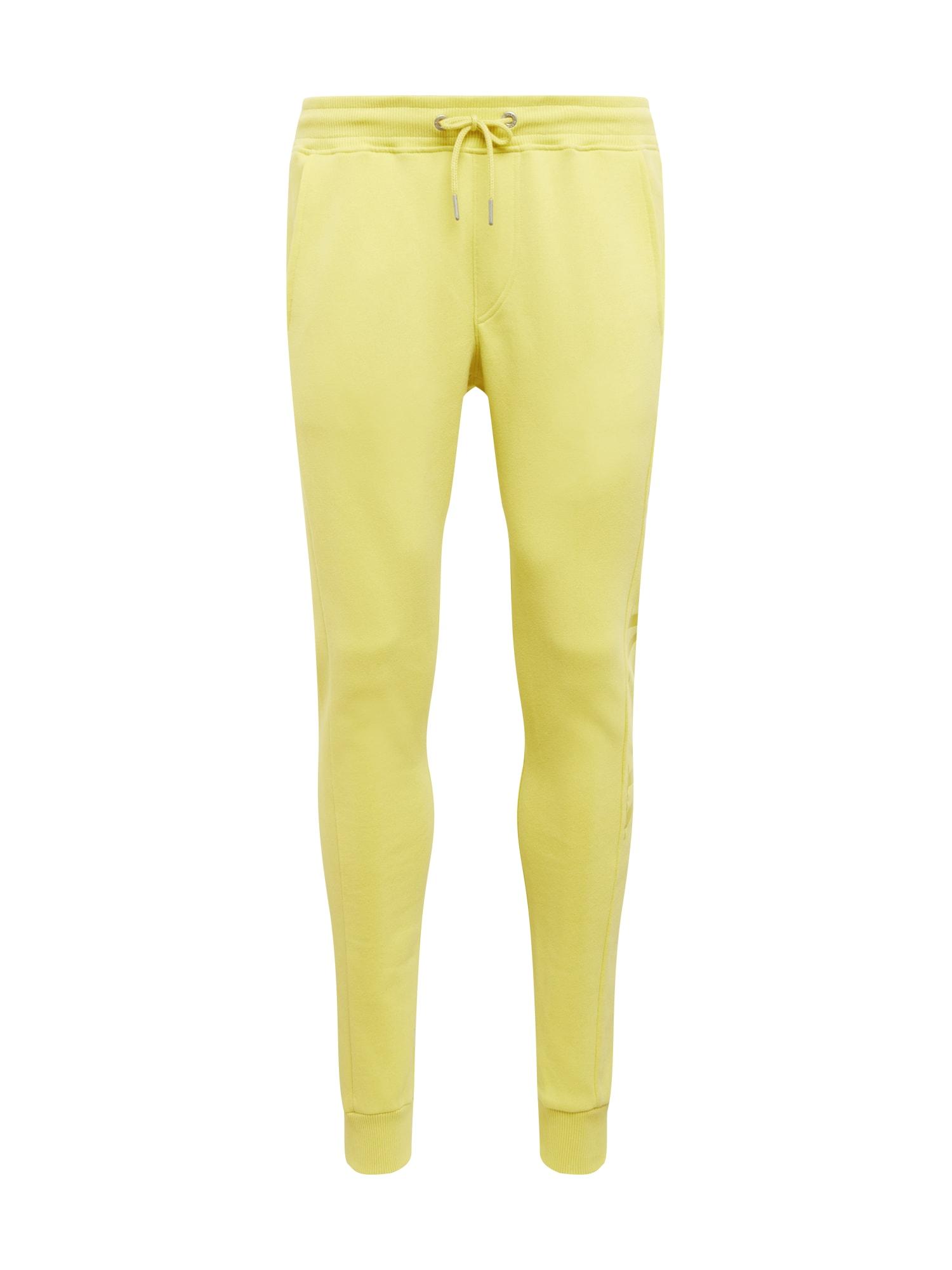 Calvin Klein Jeans Kalhoty  žlutá / černá