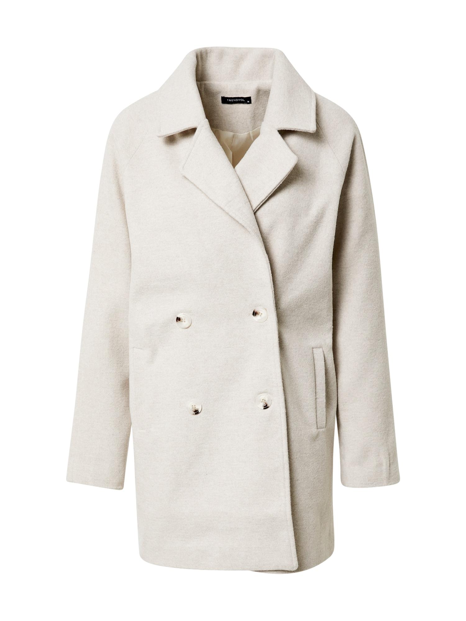 Trendyol Demisezoninis paltas gelsvai pilka spalva