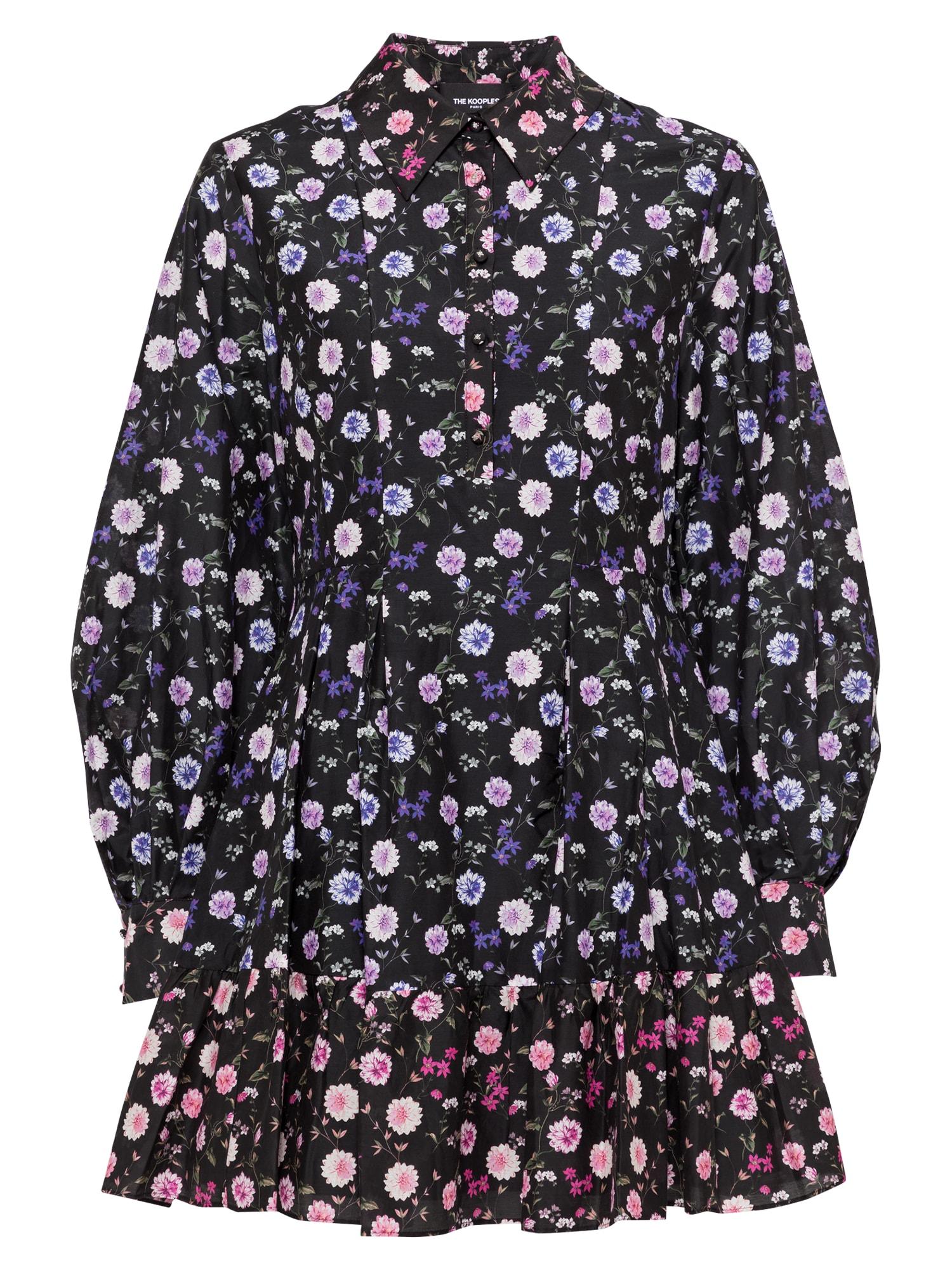 The Kooples Palaidinės tipo suknelė juoda / mišrios spalvos